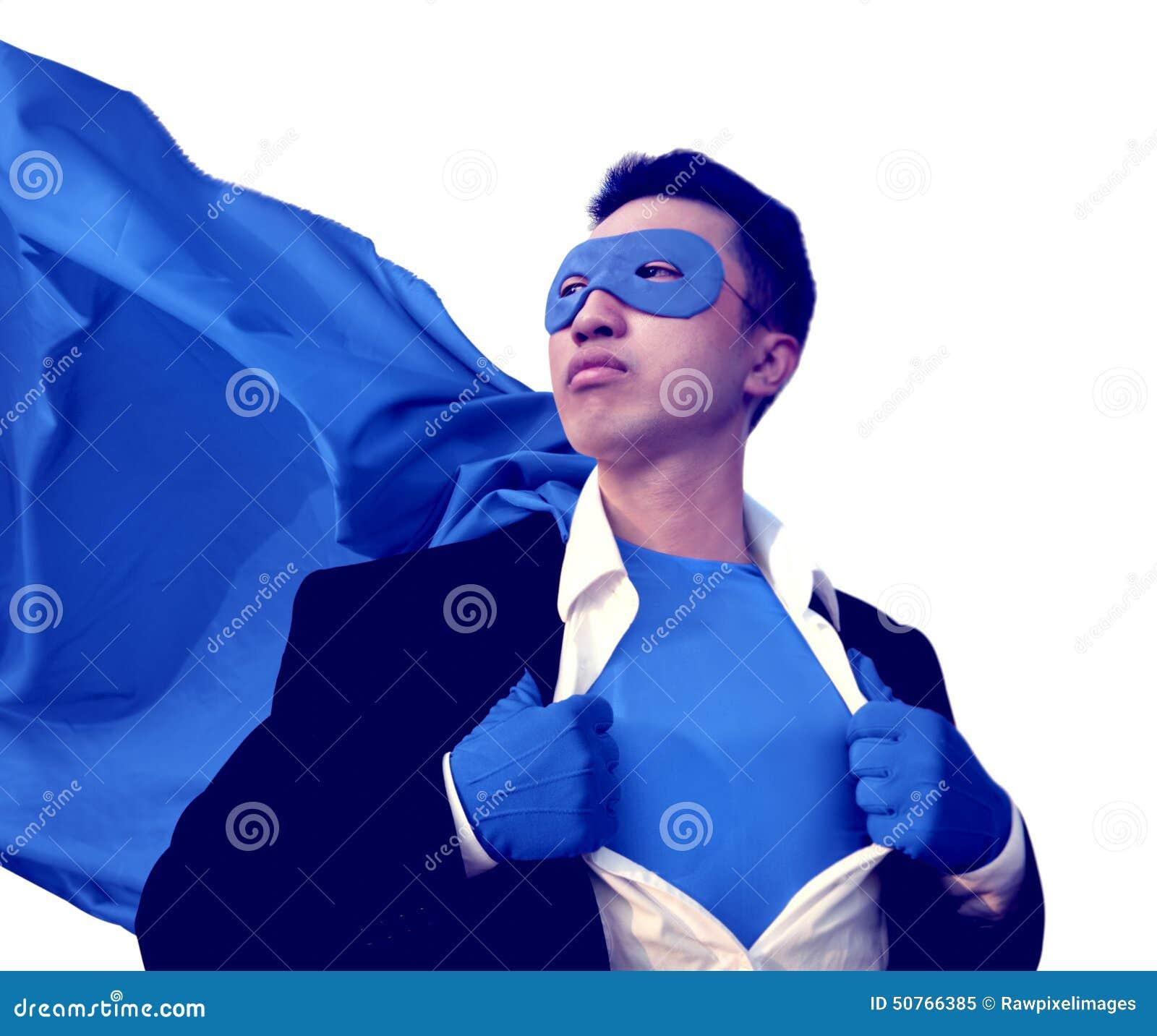 Το Superhero προστατεύει την ισχυρή έννοια φαντασίας προσδιορισμού νίκης
