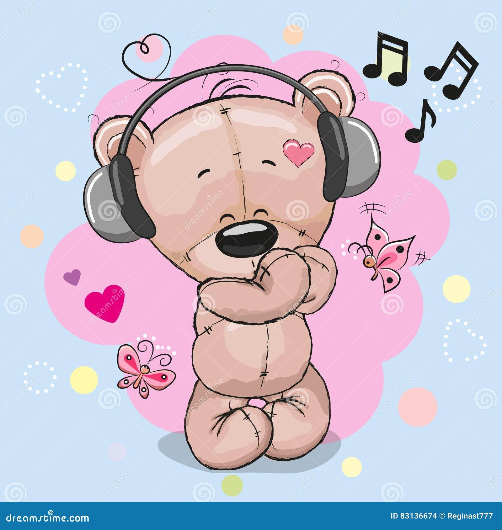 Το Teddy αντέχει με τα ακουστικά