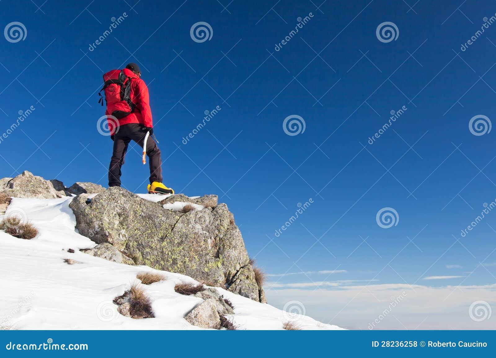 Το Trekker παρατηρεί τον ορίζοντα
