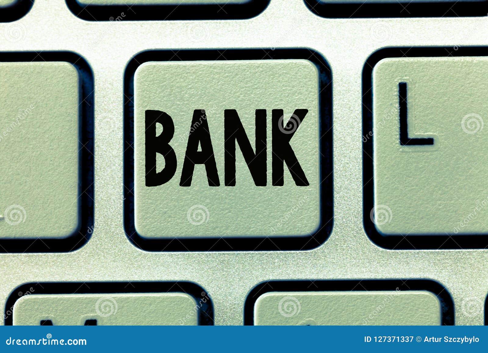 Τράπεζα κειμένων γραψίματος λέξης Επιχειρησιακή έννοια για μια οργάνωση όπου οι άνθρωποι και οι επιχειρήσεις μπορούν να επενδύσου