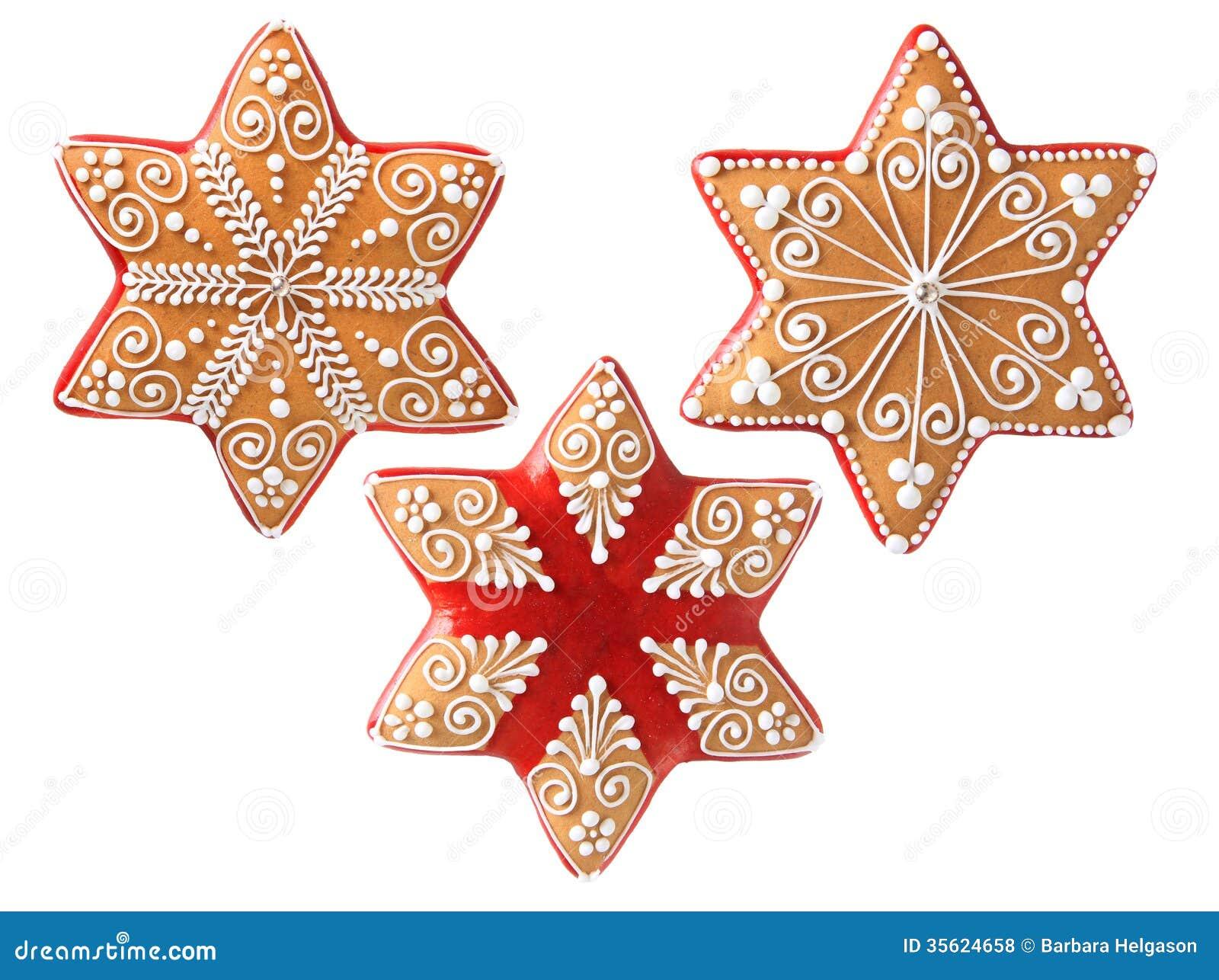 Τρία όμορφα μπισκότα Χριστουγέννων