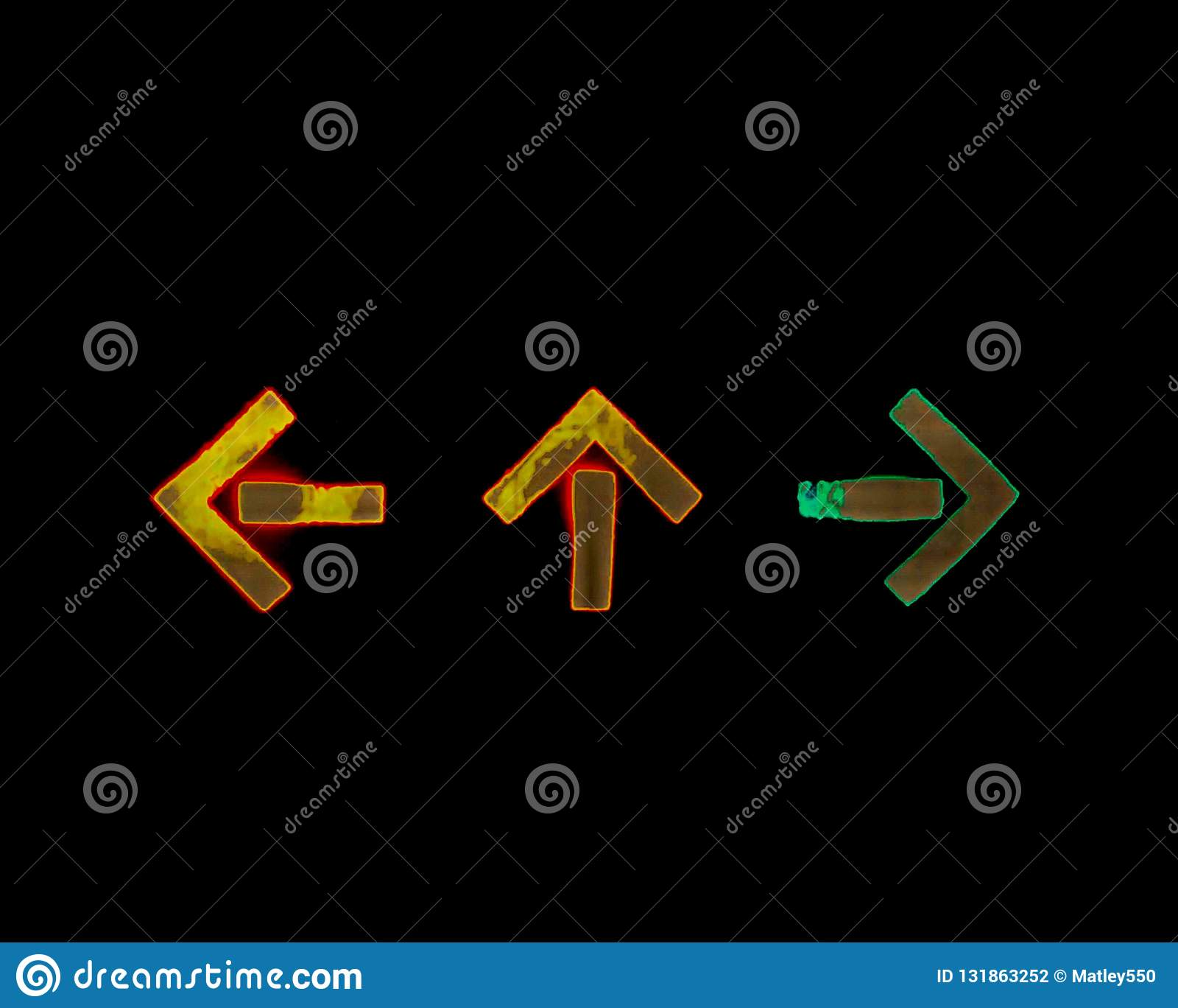 Τρία blinkers σε τρεις διαφορετικές κατευθύνσεις