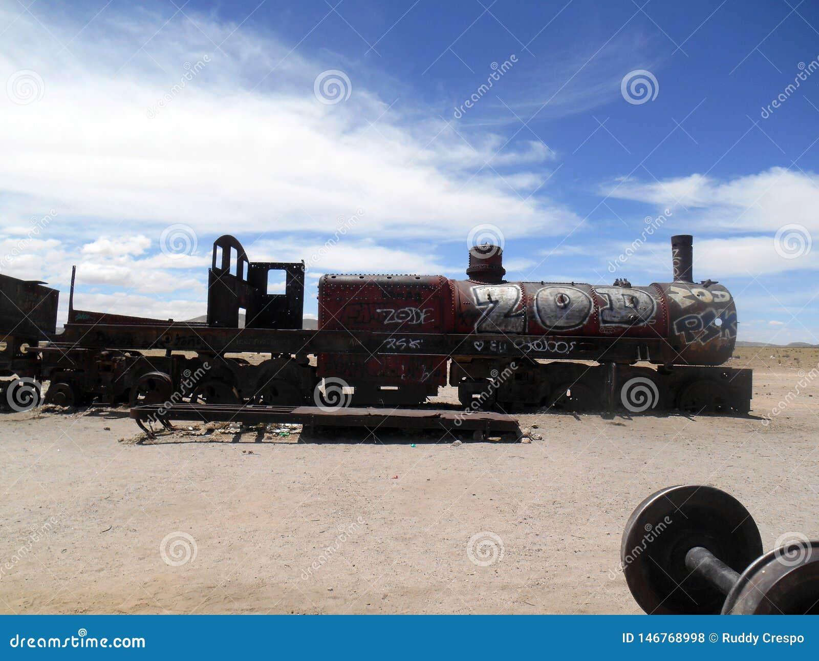 Τραίνο στην έρημο Uyuni