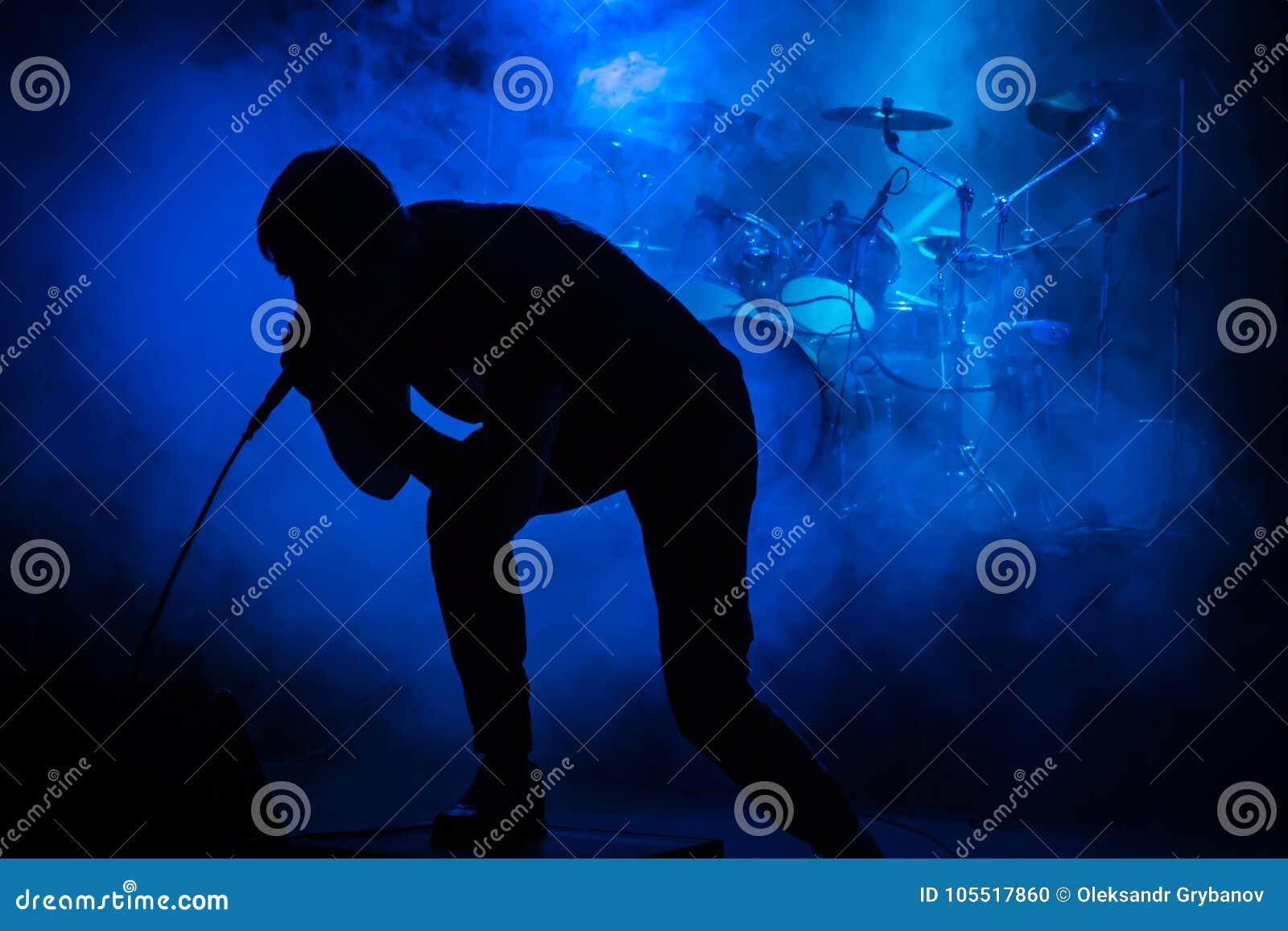 Τραγουδιστής στη συναυλία