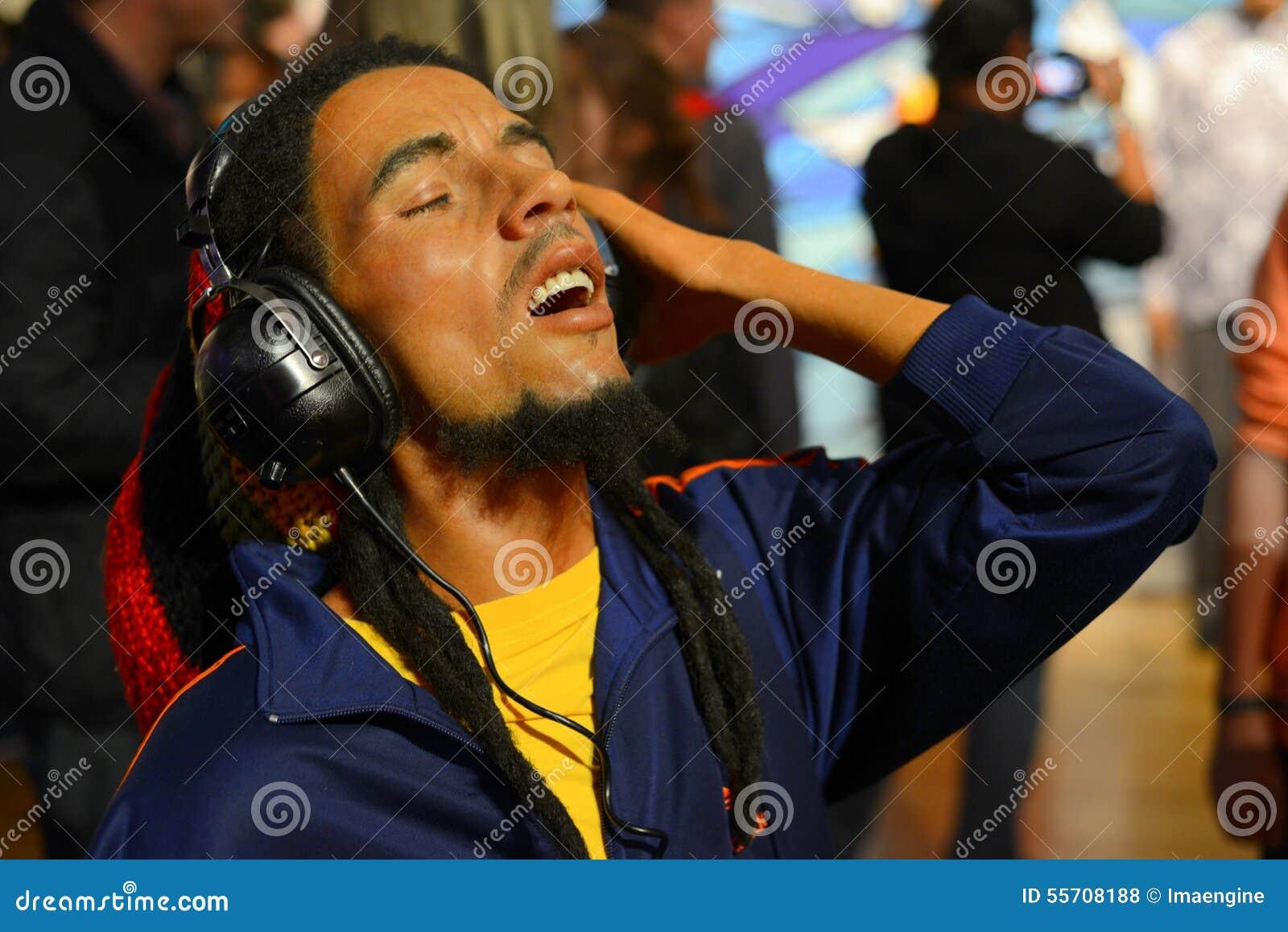Τραγουδιστής raggae του Bob Marley