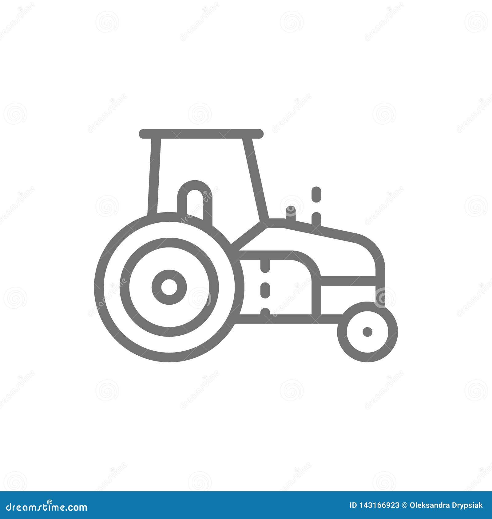 Τρακτέρ, agrimotor, βαρύ εικονίδιο γραμμών γεωργικών μηχανημάτων