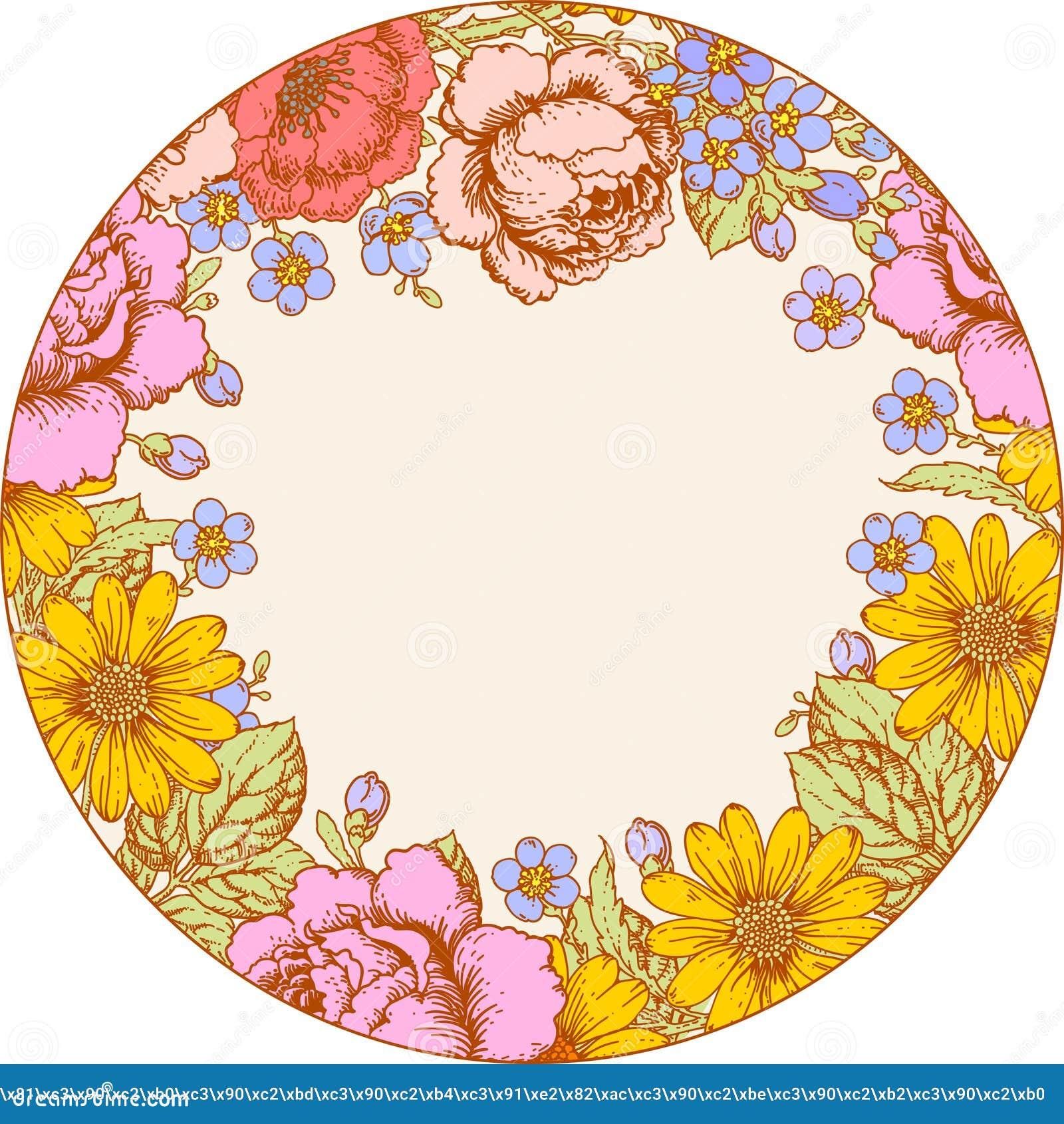 τριαντάφυλλα Πλαίσιο κύκλων