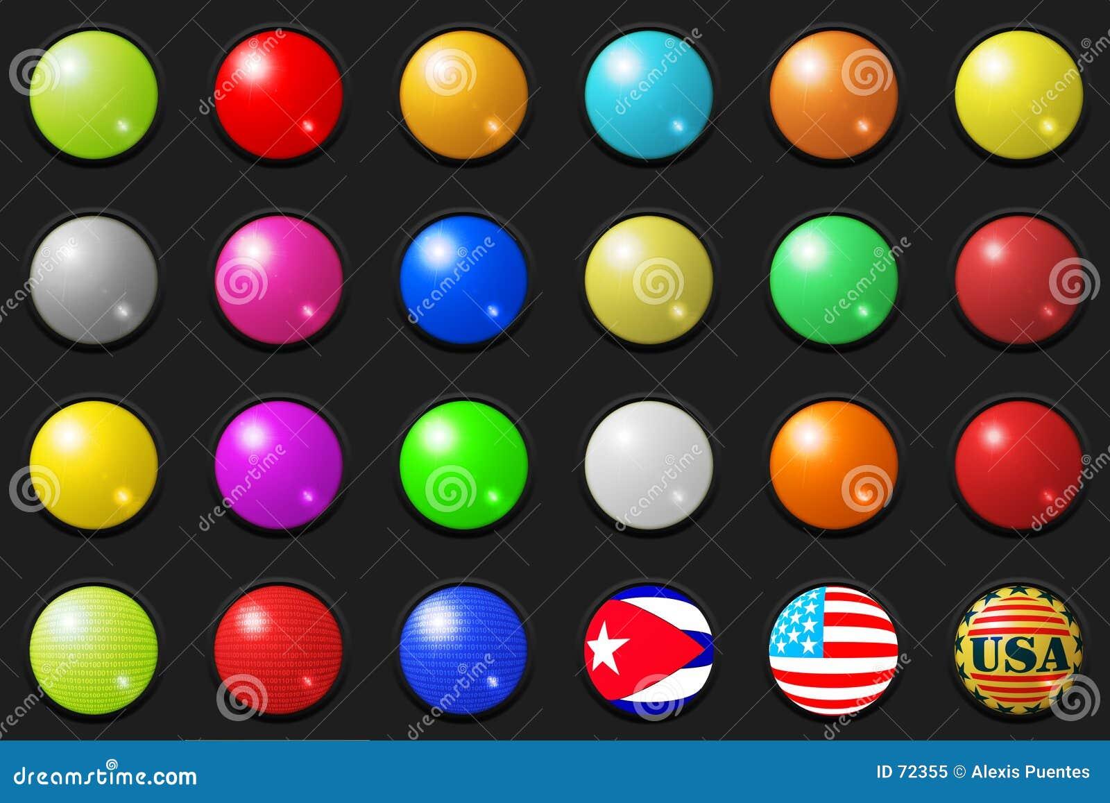 τρισδιάστατα κουμπιά μεγάλα