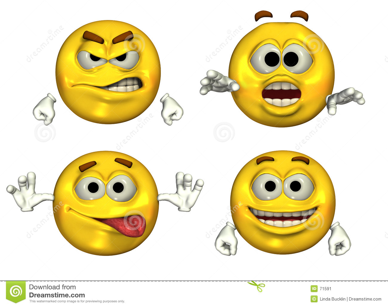 τρισδιάστατα μεγάλα emoticons