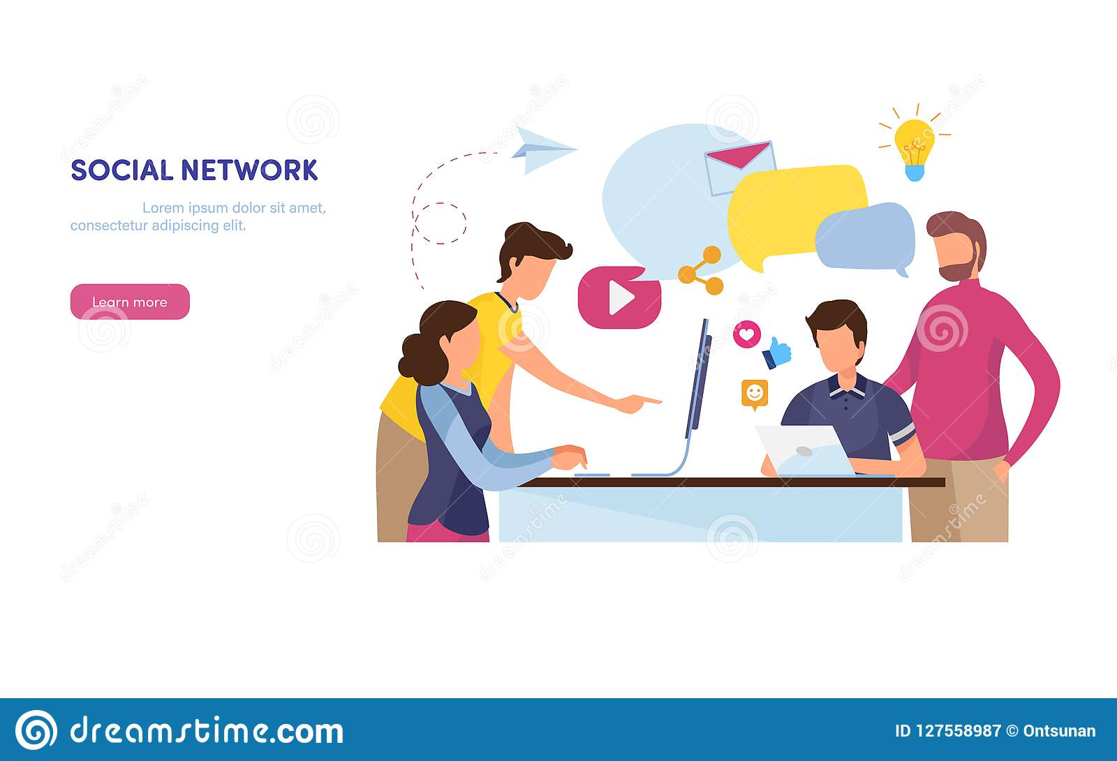τρισδιάστατη εικόνα δικτύων που καθίσταται κοινωνική Σε απευθείας σύνδεση Κοινότητα περιεχόμενο μάρκετινγκ Κοινωνικά μέσα, όπως,