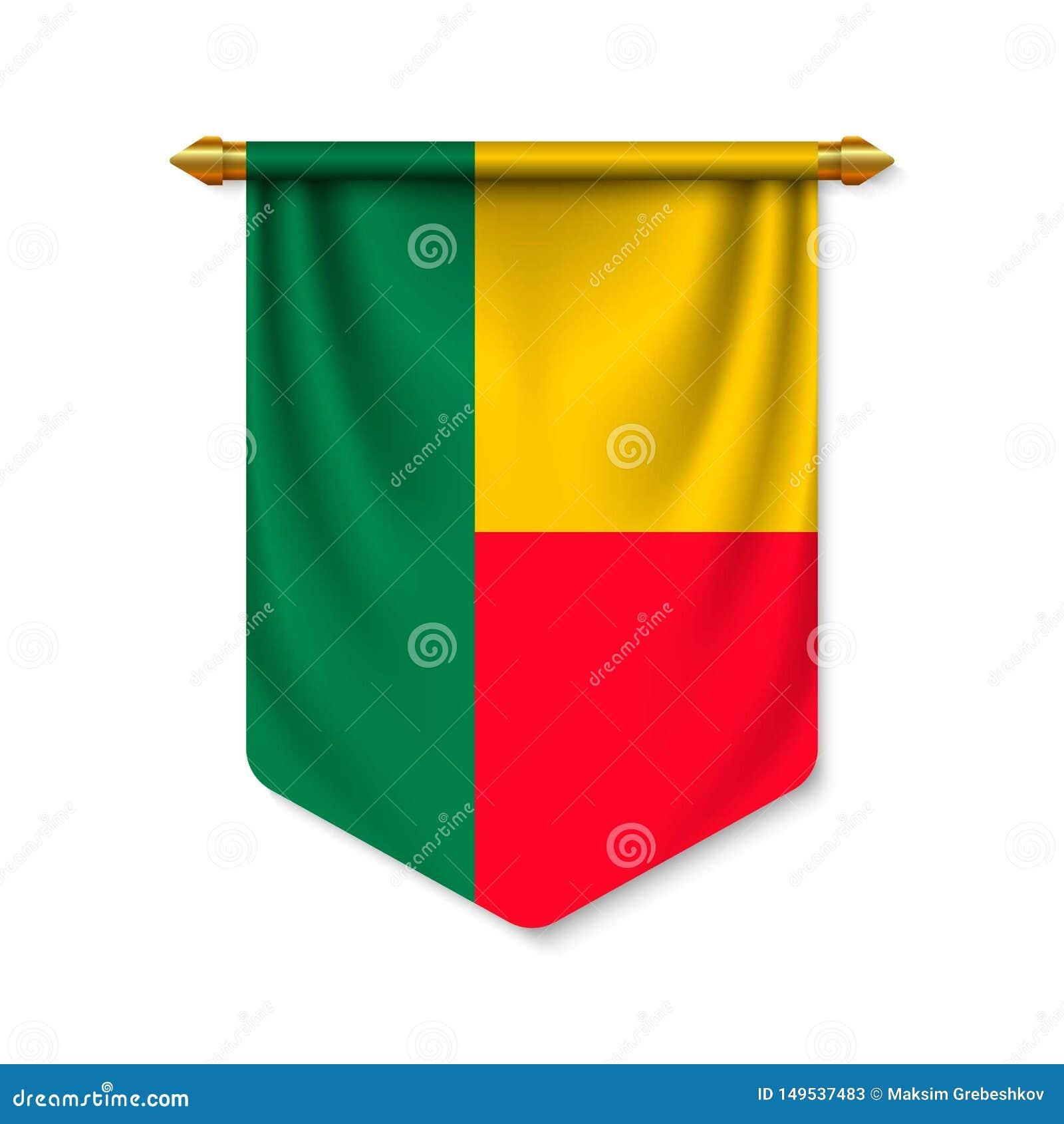 τρισδιάστατη ρεαλιστική σημαία με τη σημαία