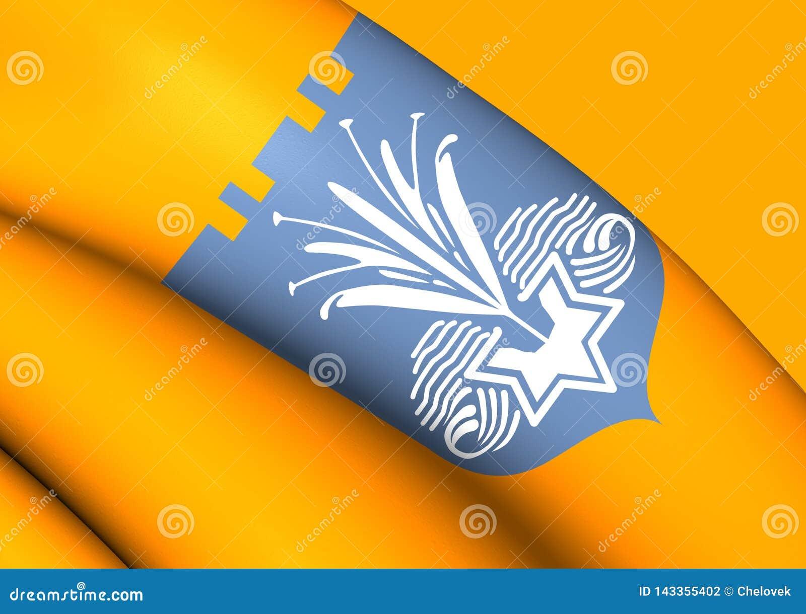 τρισδιάστατη σημαία Netanya, Ισραήλ