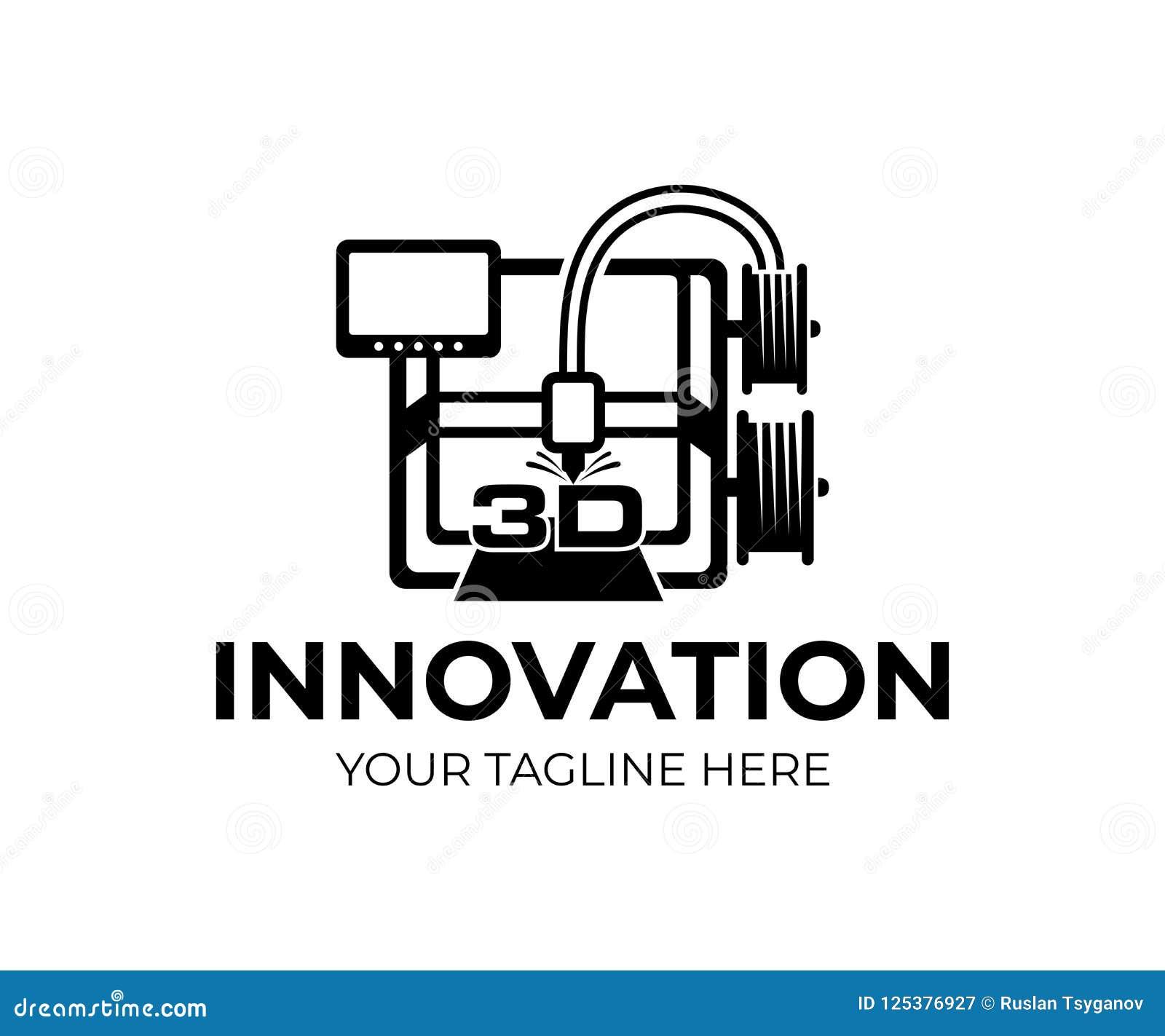τρισδιάστατος εκτυπωτής, τεχνολογία και καινοτομία, σχέδιο λογότυπων Ηλεκτρονικός τρισδιάστατος πλαστικός εκτυπωτής, αυτοματοποίη