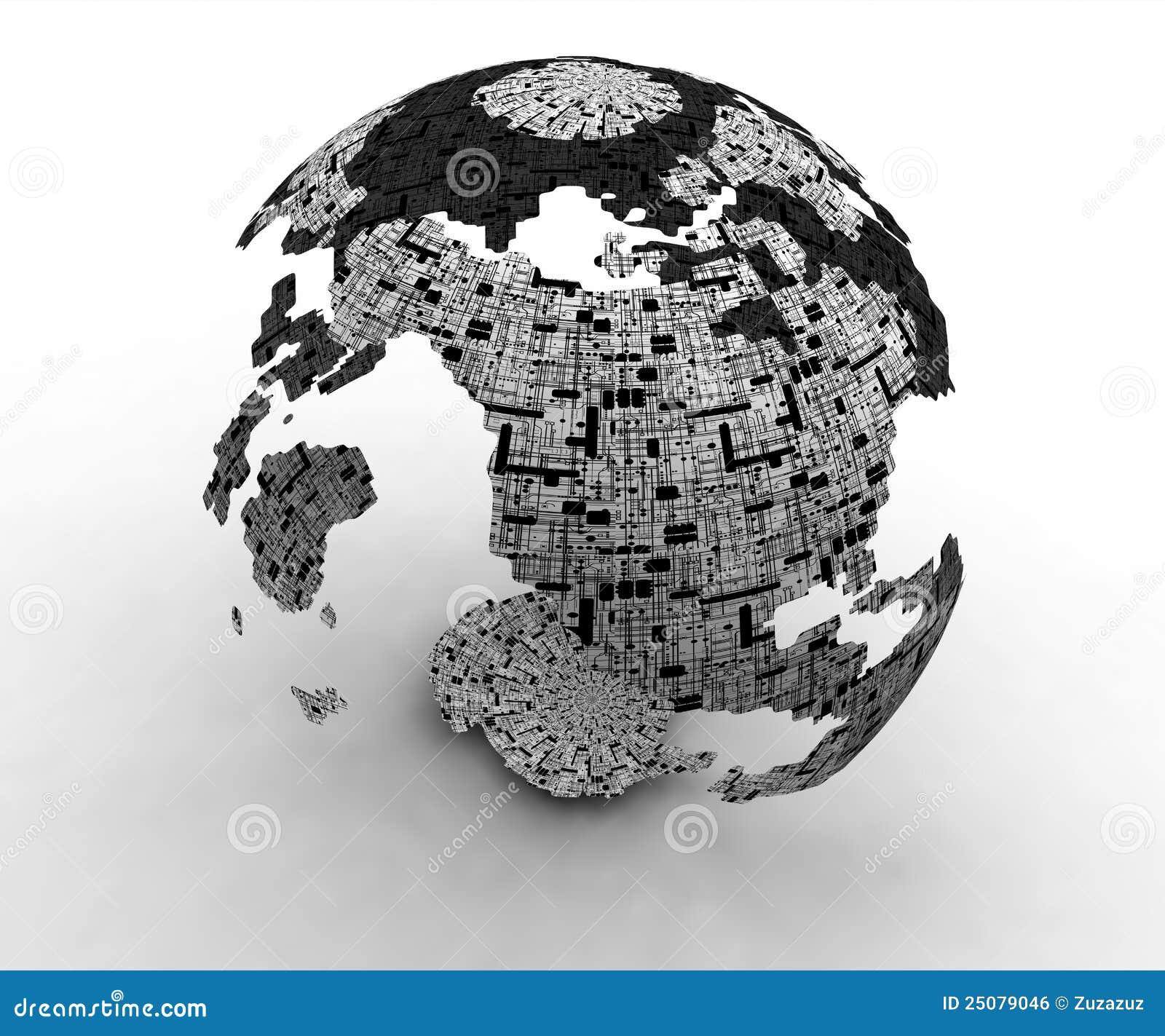 τρισδιάστατος κόσμος τεχνολογίας χαρτών