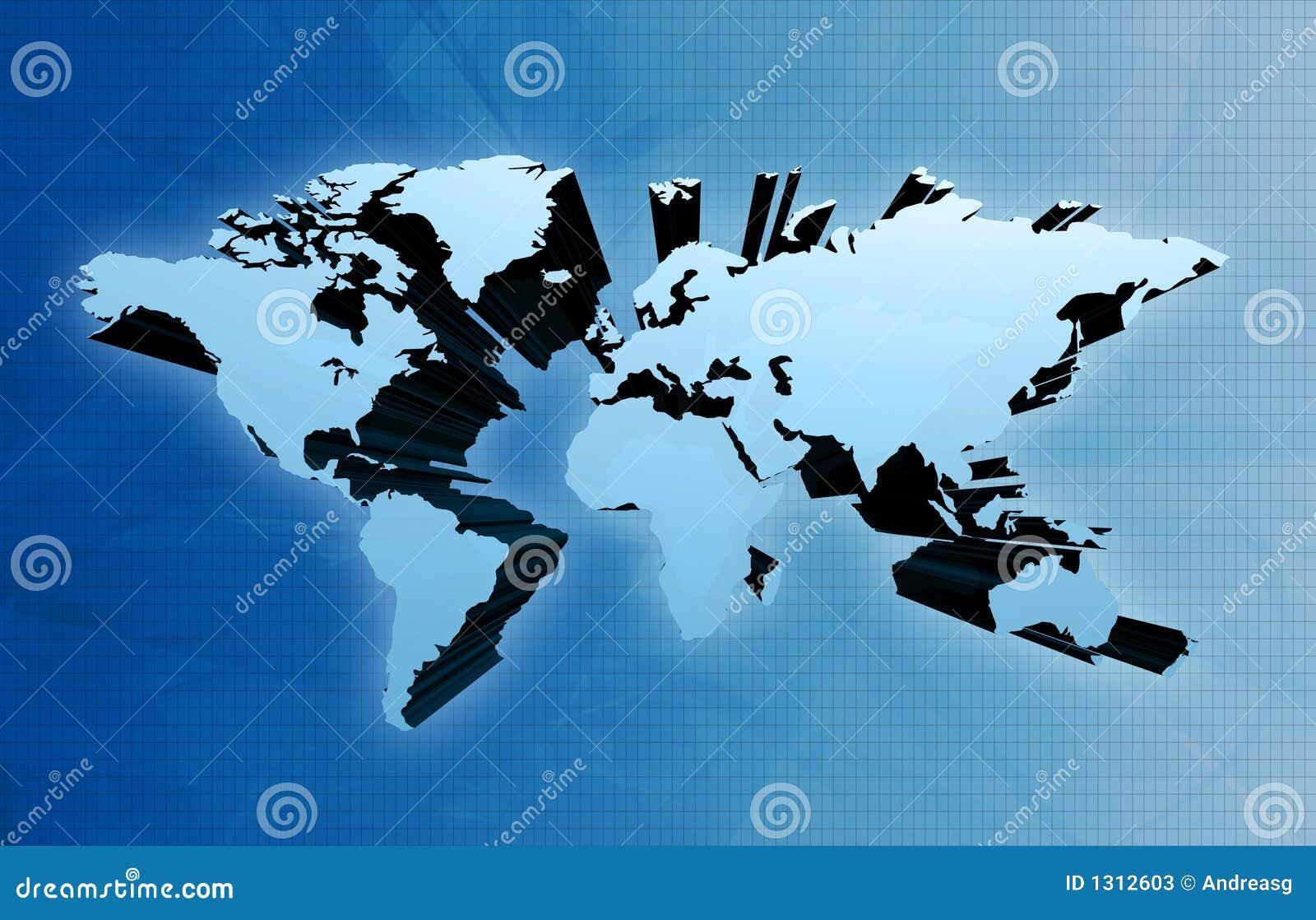 τρισδιάστατος κόσμος χαρτών