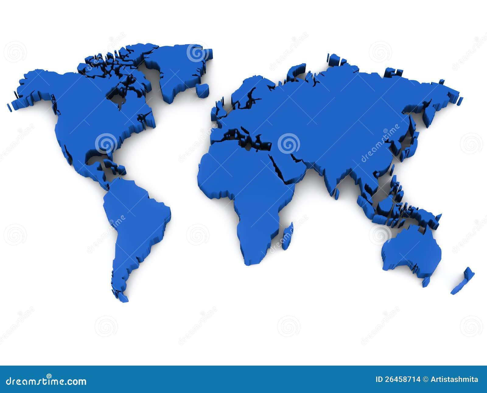 τρισδιάστατος παγκόσμιος χάρτης