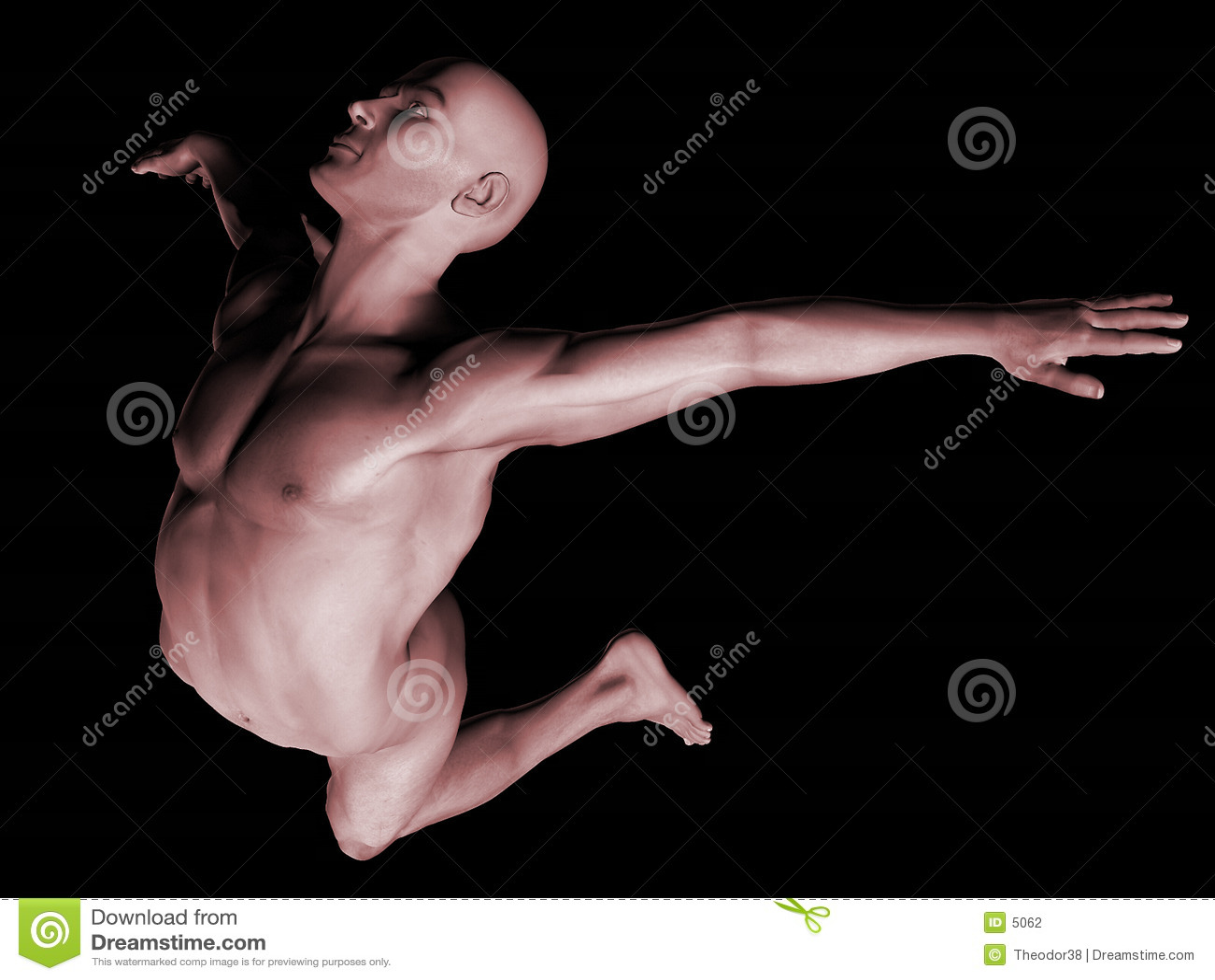 τρισδιάστατος nude δίνει