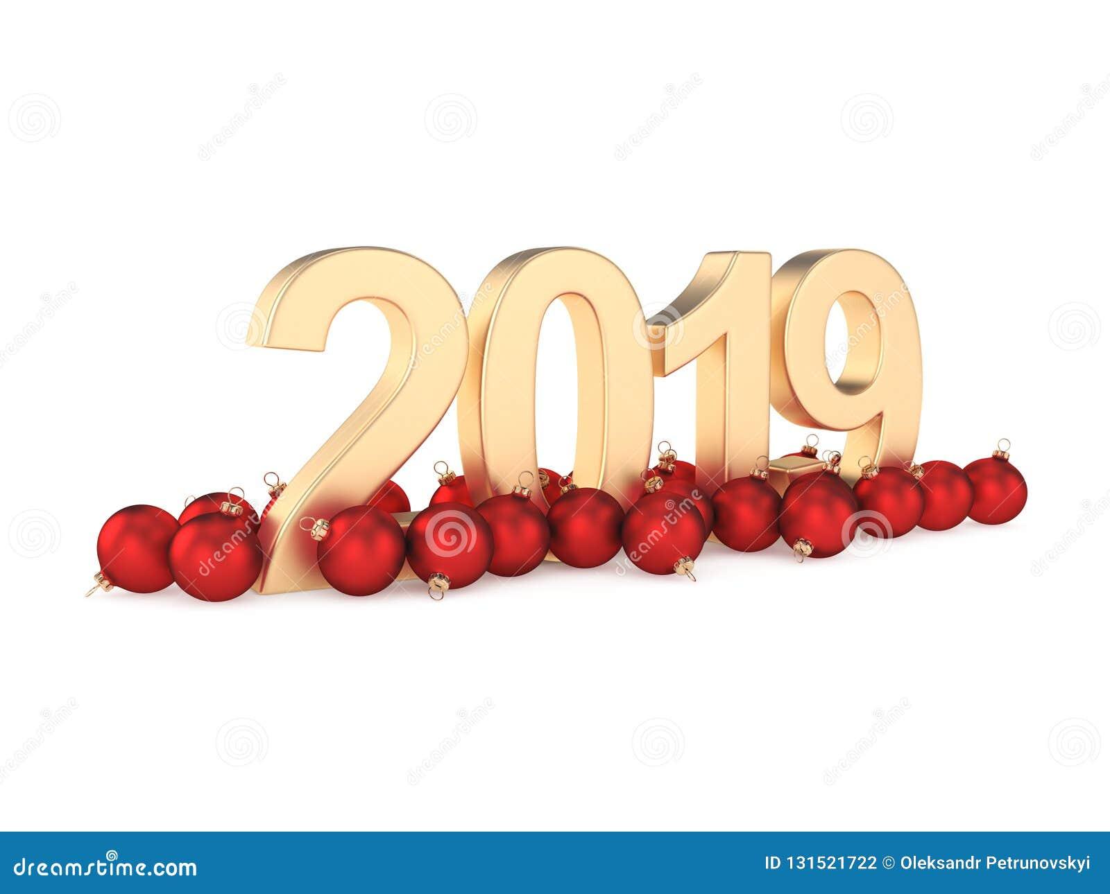τρισδιάστατο δίνοντας το 2019 νέα χρυσά ψηφία έτους