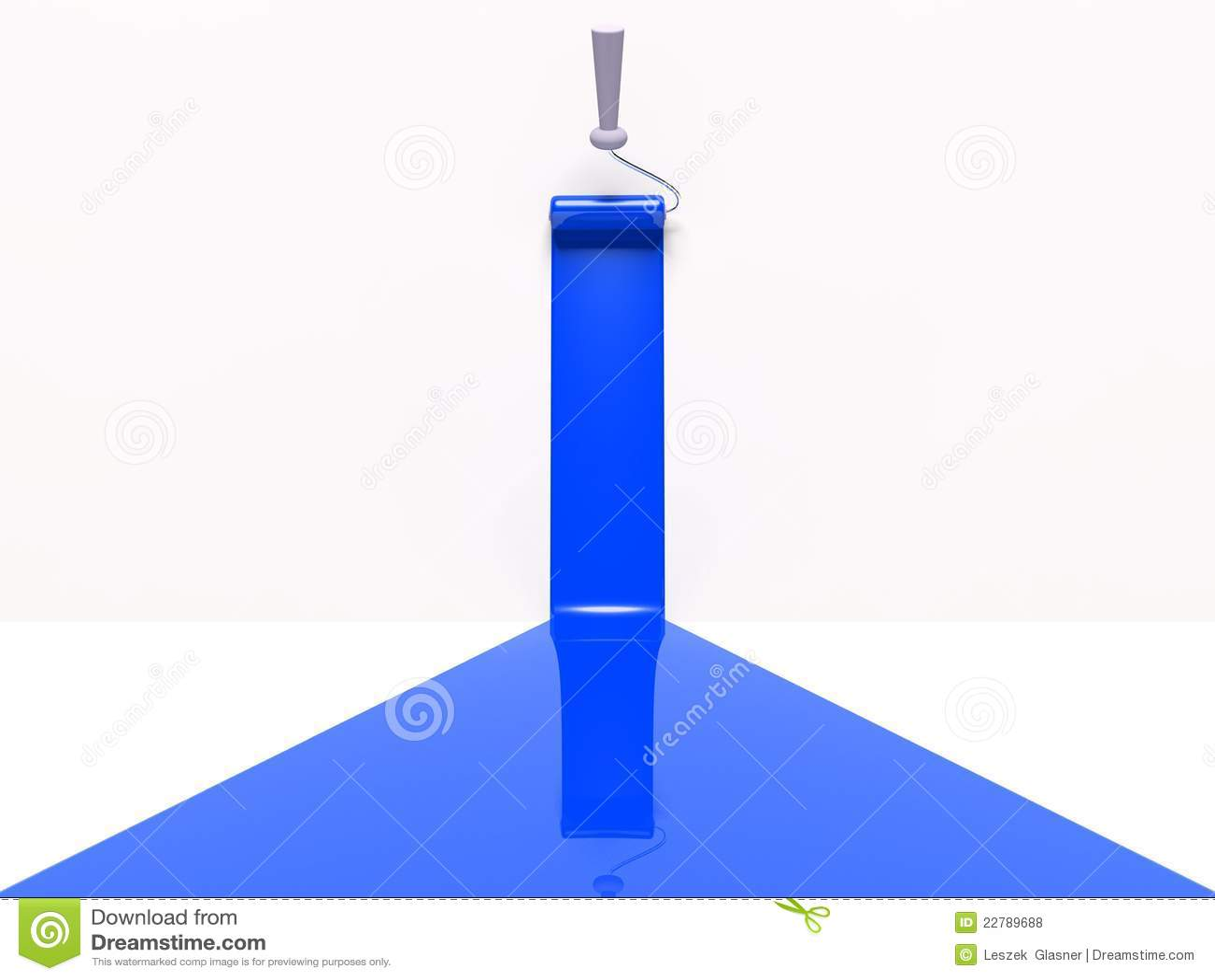 τρισδιάστατο μπλε λωρίδα κυλίνδρων χρωμάτων