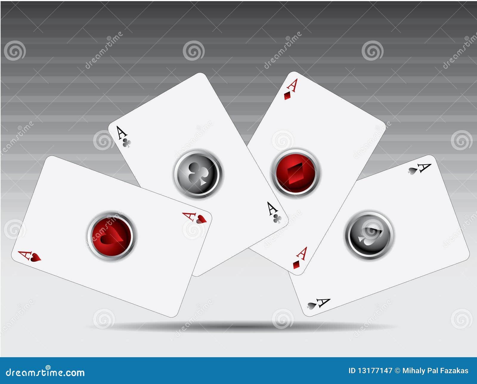 τρισδιάστατο πόκερ καρτών &k