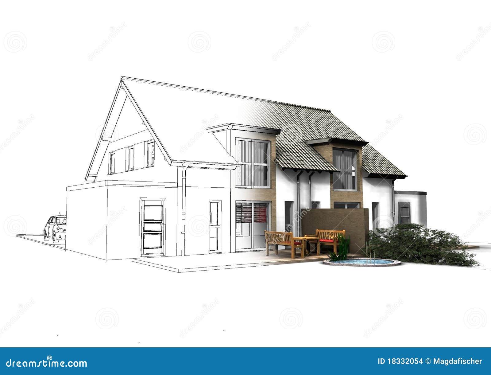 τρισδιάστατο σπίτι