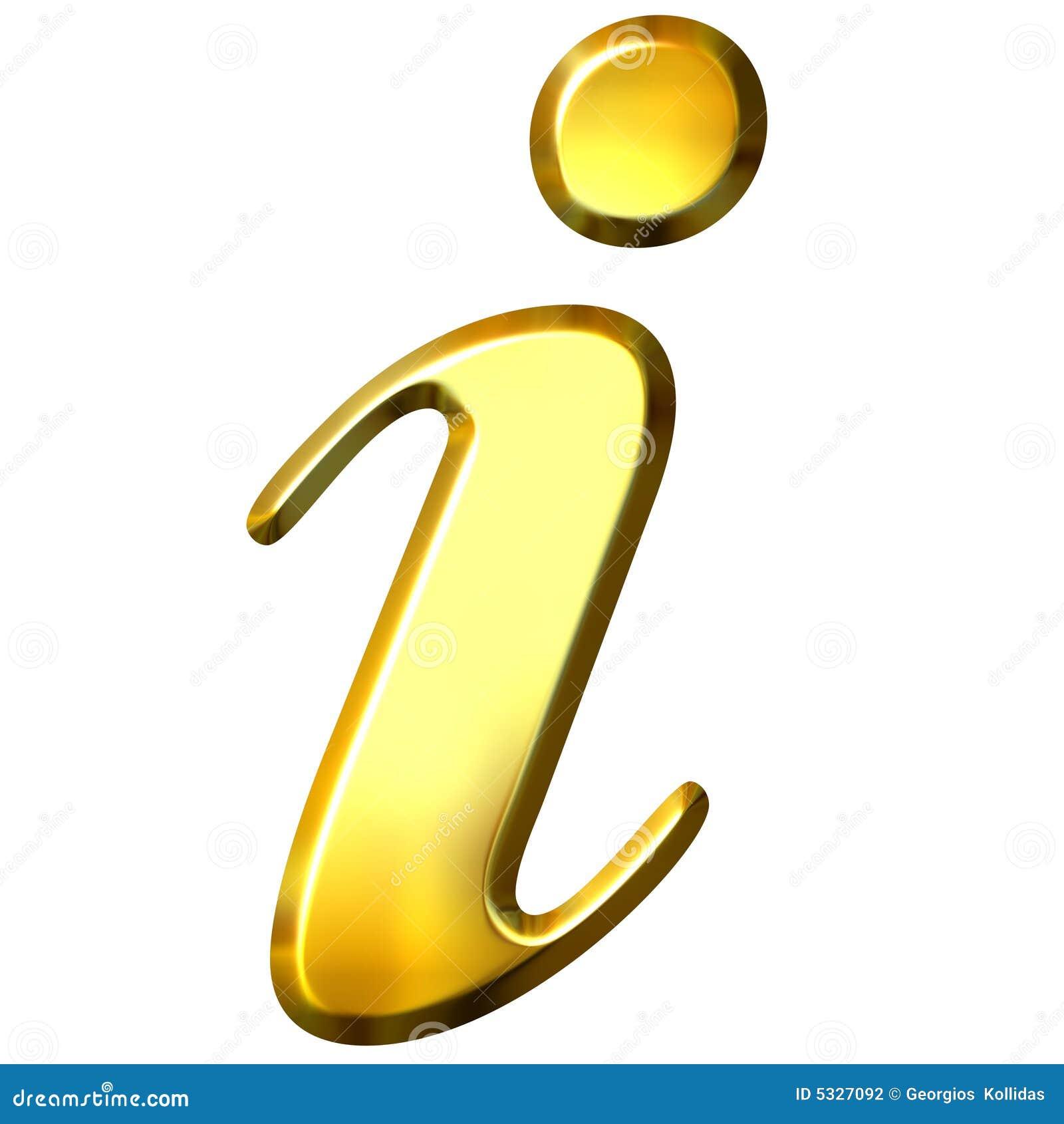 τρισδιάστατο χρυσό σύμβο&lam