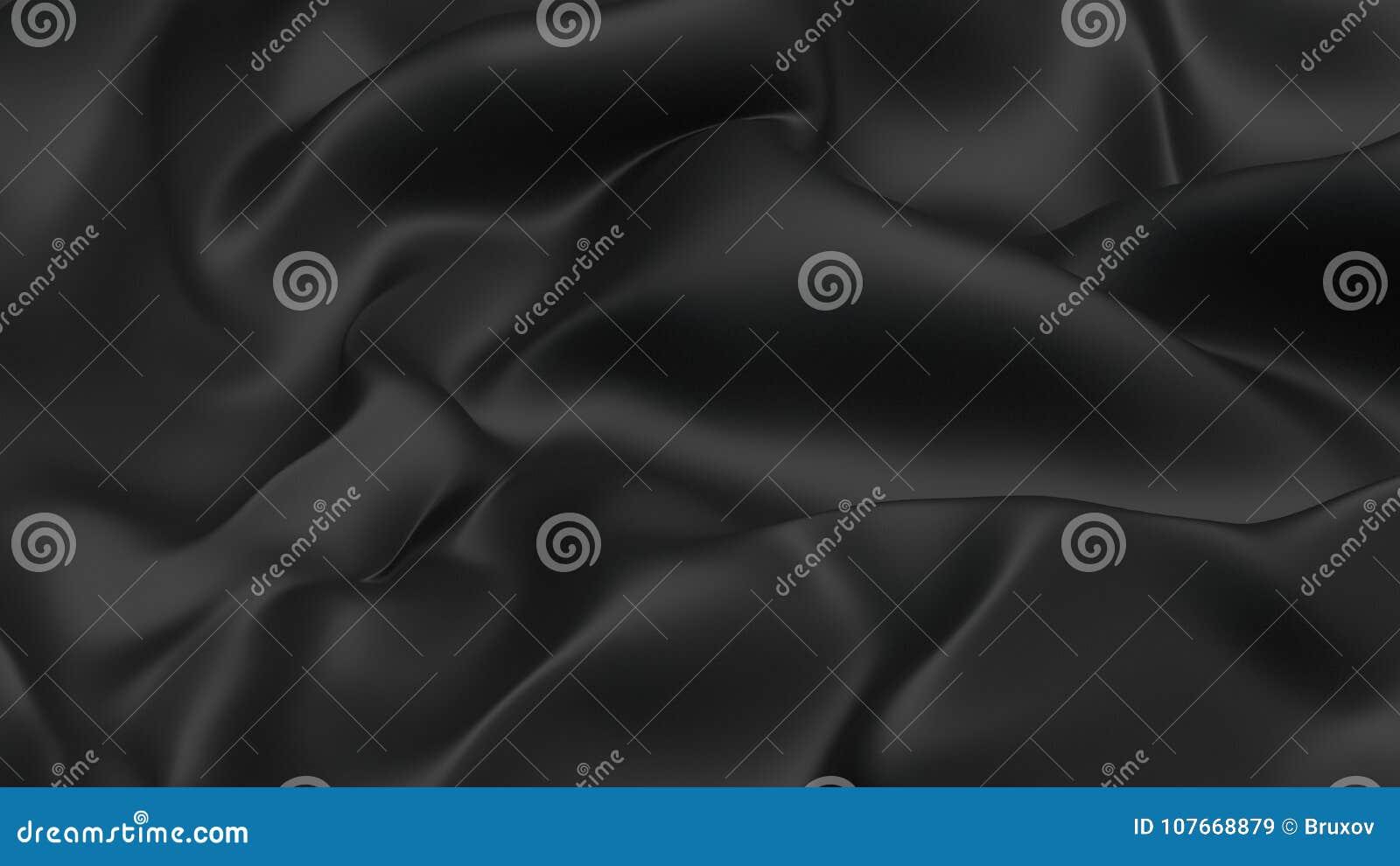 τρισδιάστατο ύφασμα υποβάθρου απεικόνισης αφηρημένο μαύρο