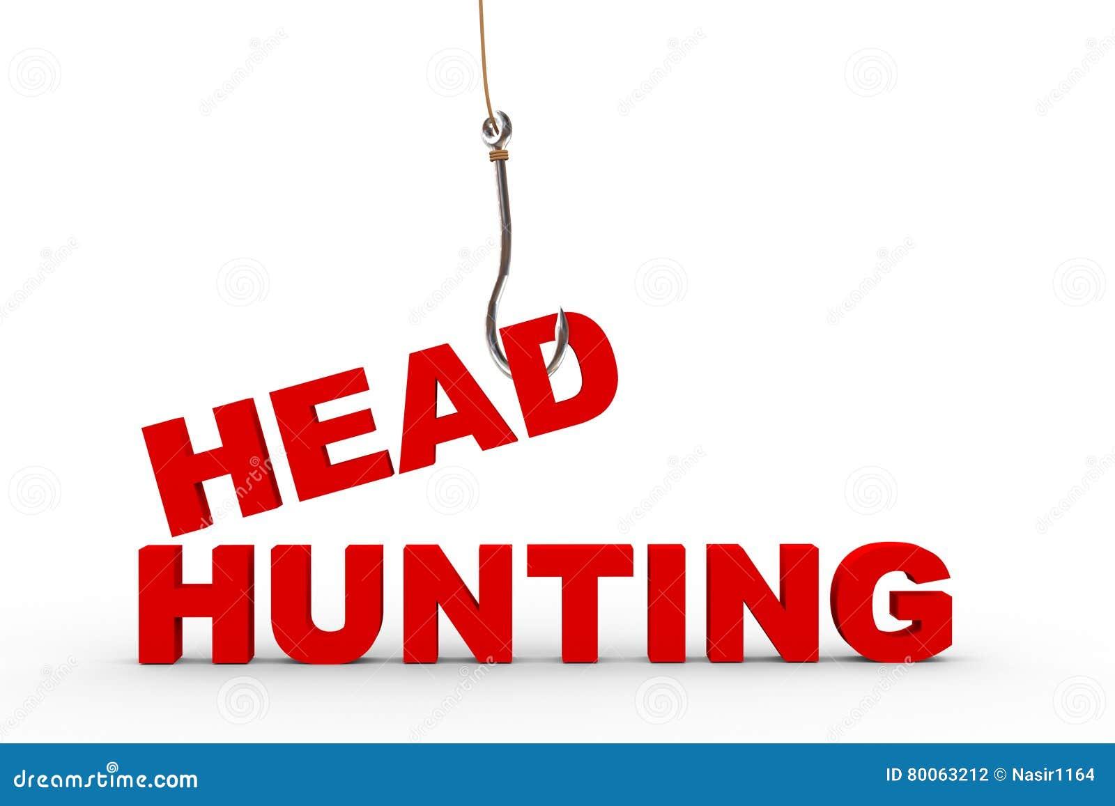 τρισδιάστατος γάντζος αλιείας και headhunting έννοια