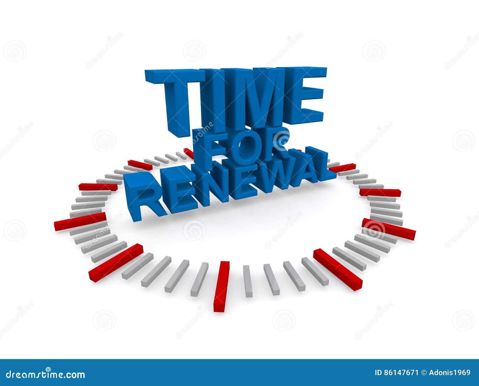 τρισδιάστατος χρόνος για το σημάδι ανανέωσης