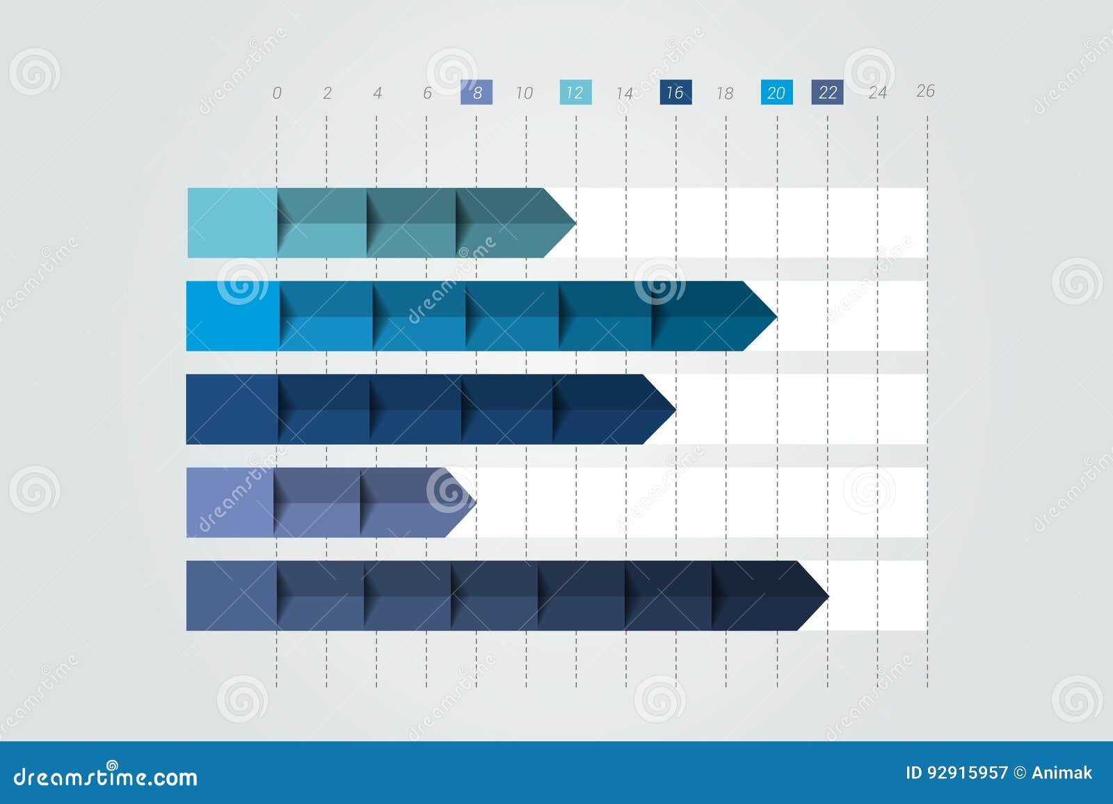 τρισδιάστατο διάγραμμα, γραφική παράσταση Απλά χρώμα editable