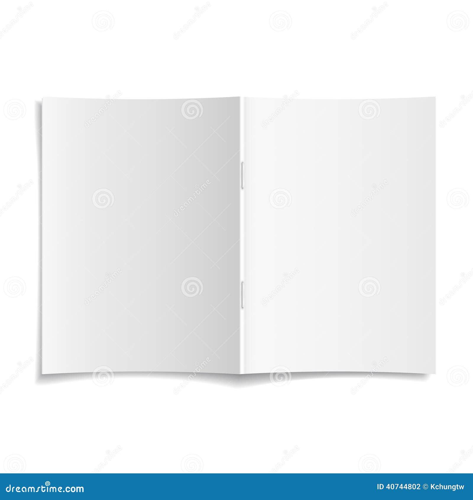 τρισδιάστατο διανυσματικό ανοιγμένο κενό πρότυπο κάλυψης περιοδικών