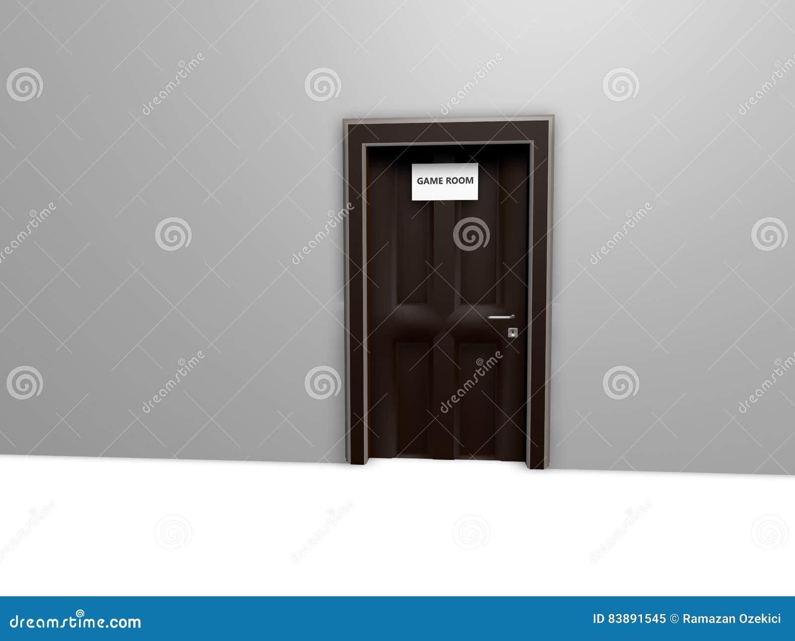 Τρισδιάστατο υπόβαθρο με τα δωμάτια και τα ονόματα