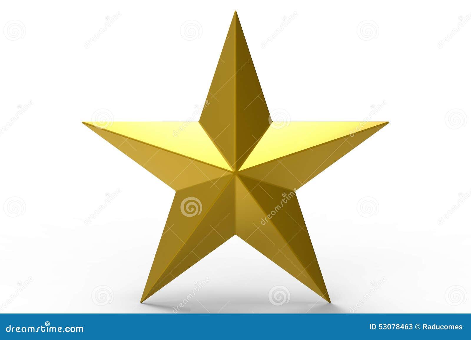 τρισδιάστατο χρυσό αστέρι