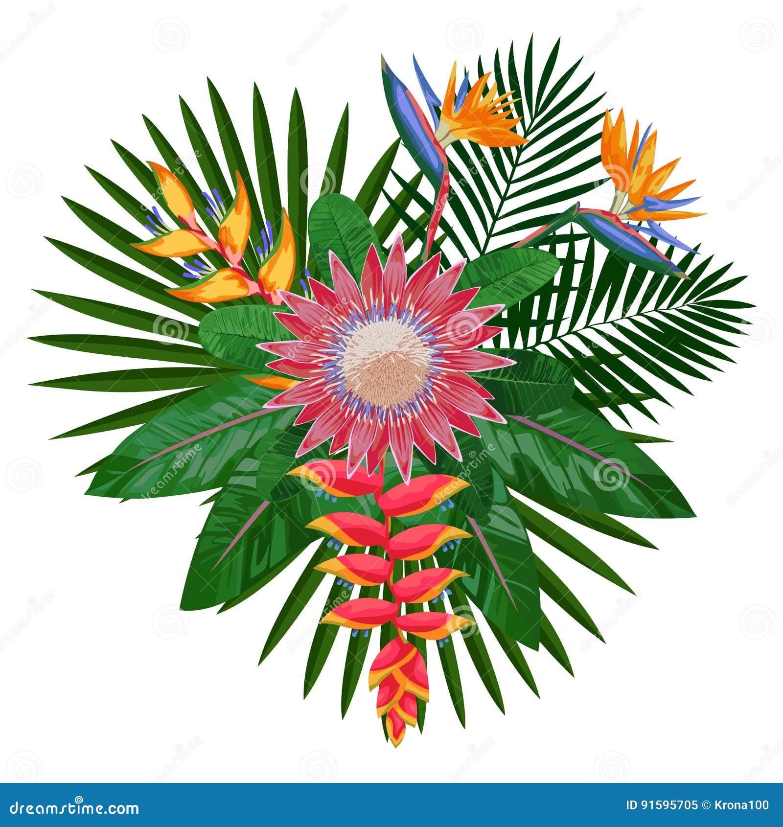 Τροπική σύνθεση ανθοδεσμών με Protea