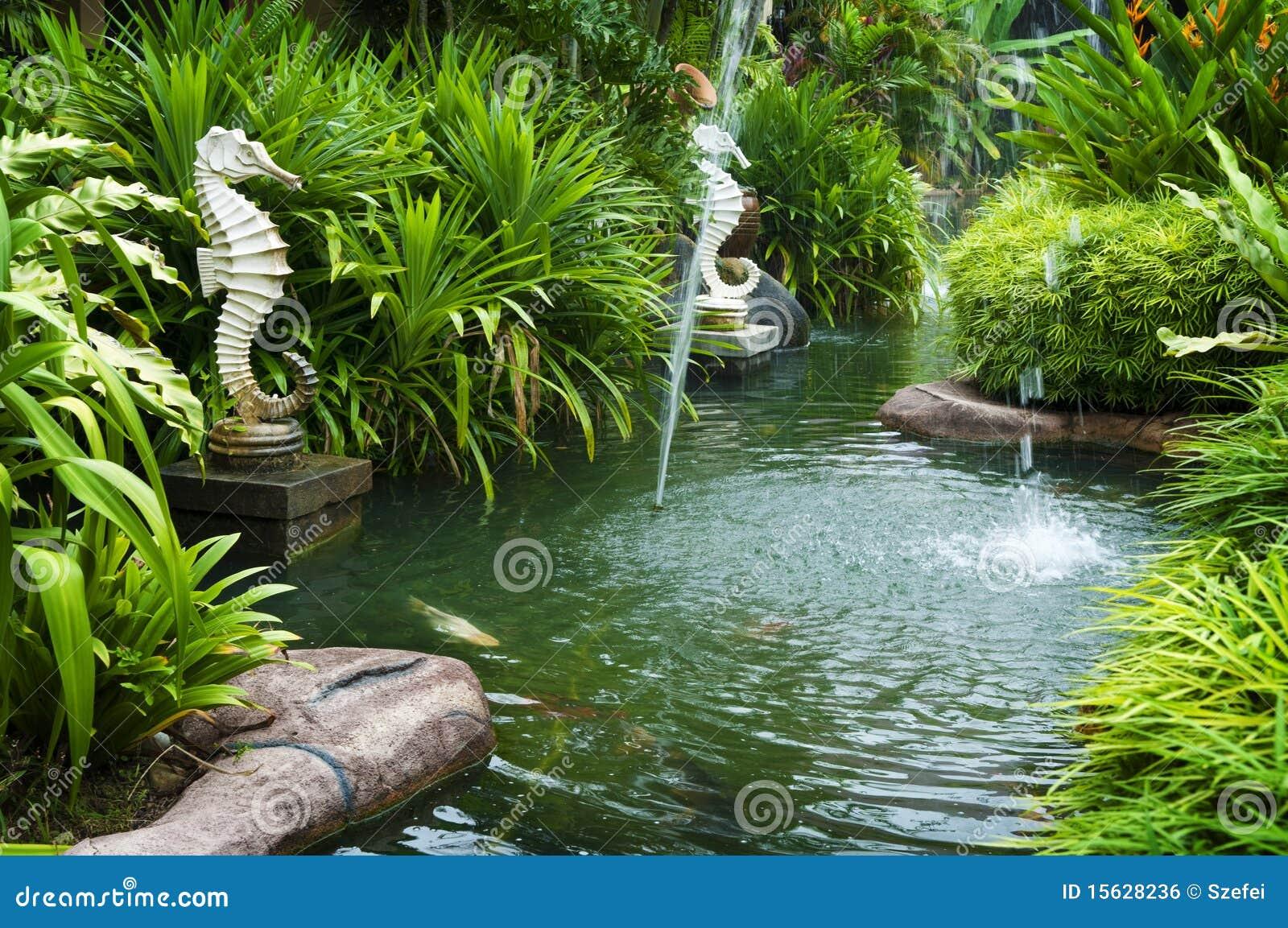 Τροπικός κήπος zen