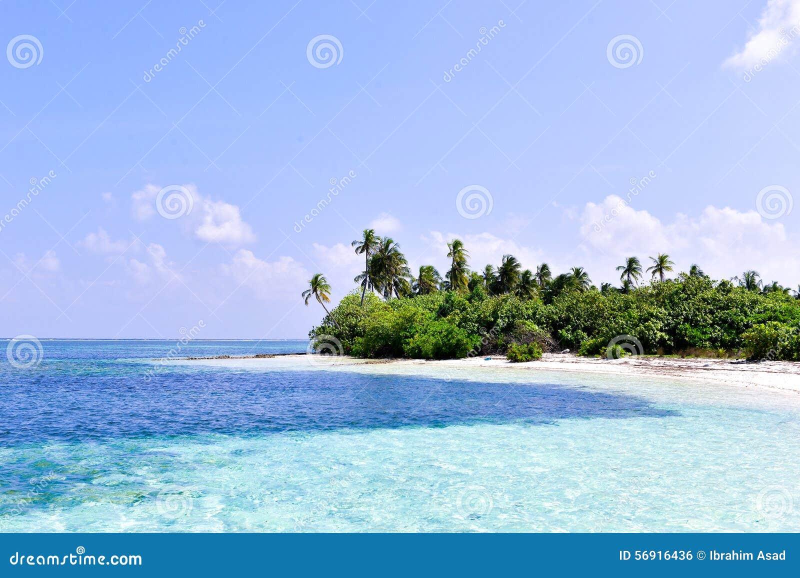Τροπικό νησί στην ατόλλη των Μαλδίβες Laamu