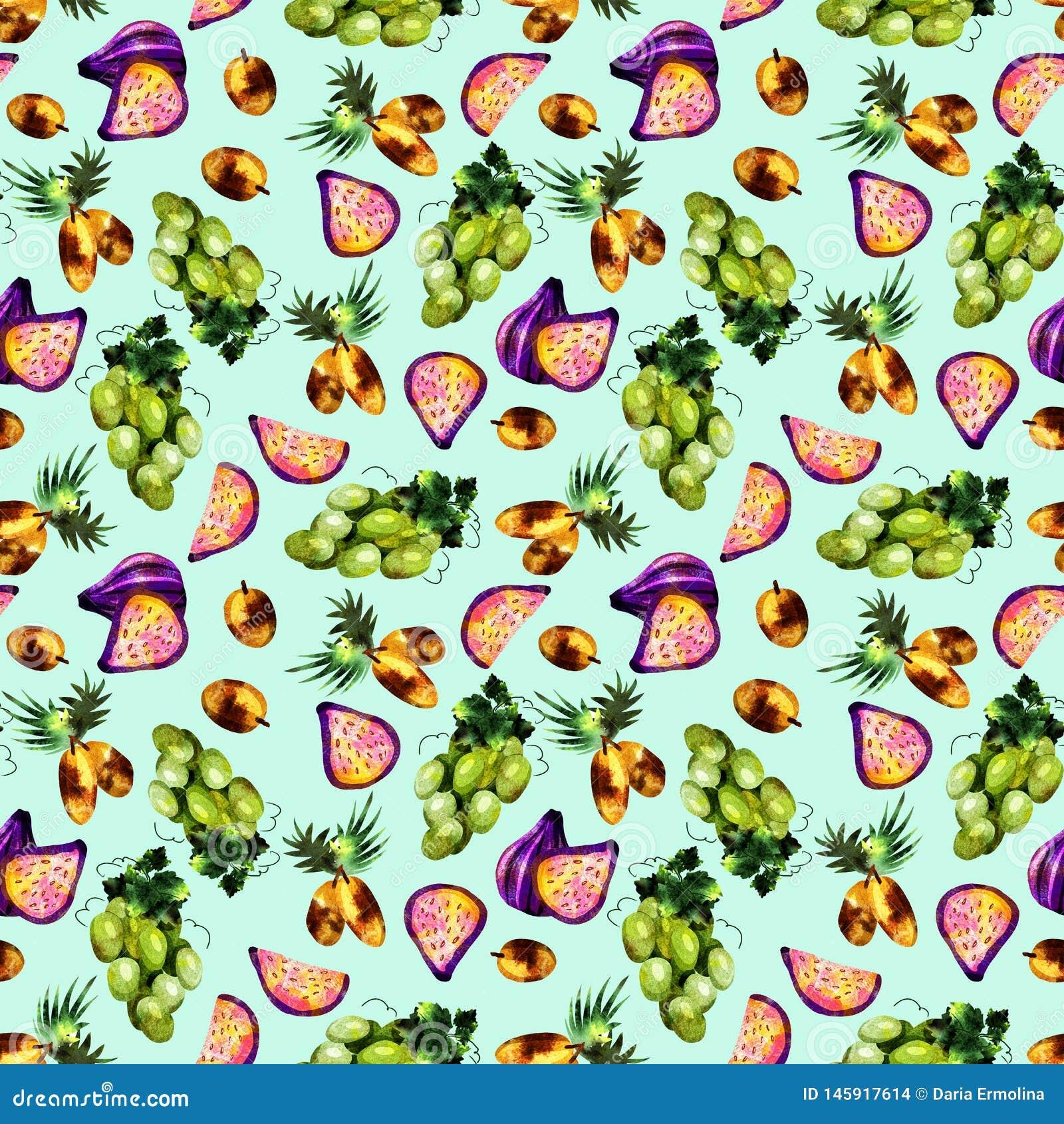 Τροπικό σχέδιο φρούτων