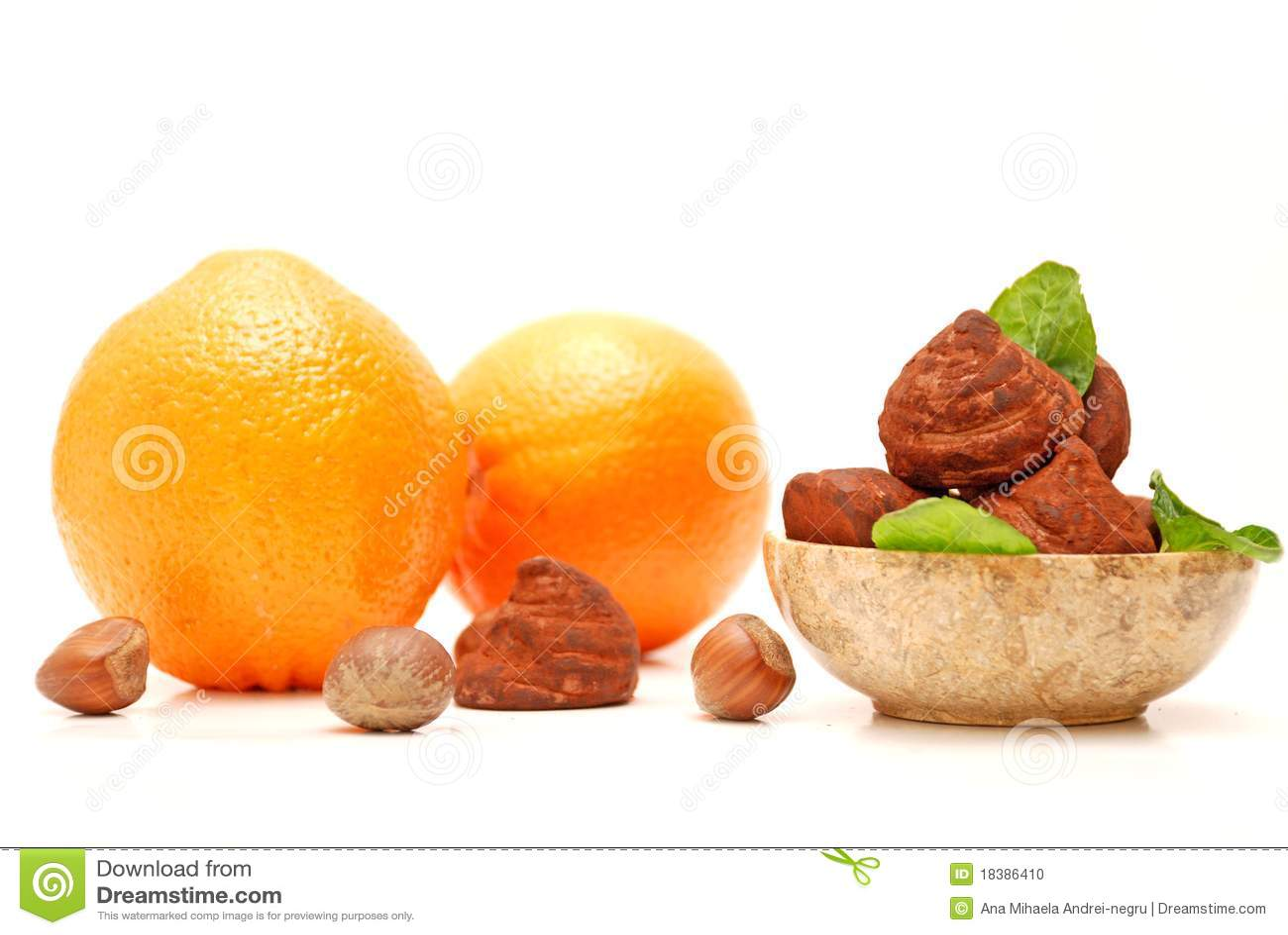 τρούφες πορτοκαλιών φο&upsilo