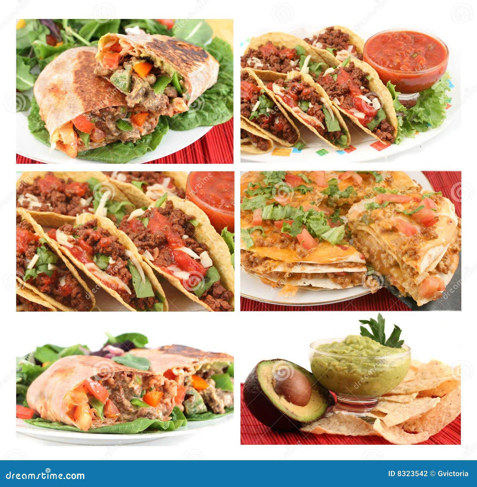 τρόφιμα μεξικανός κολάζ