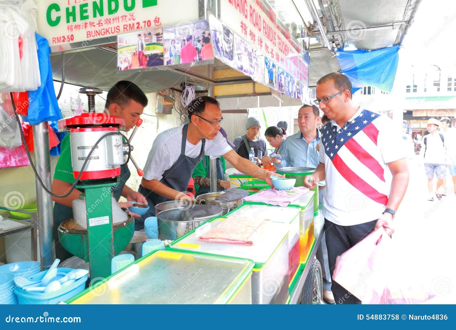 Τρόφιμα οδών στη Μαλαισία Penang