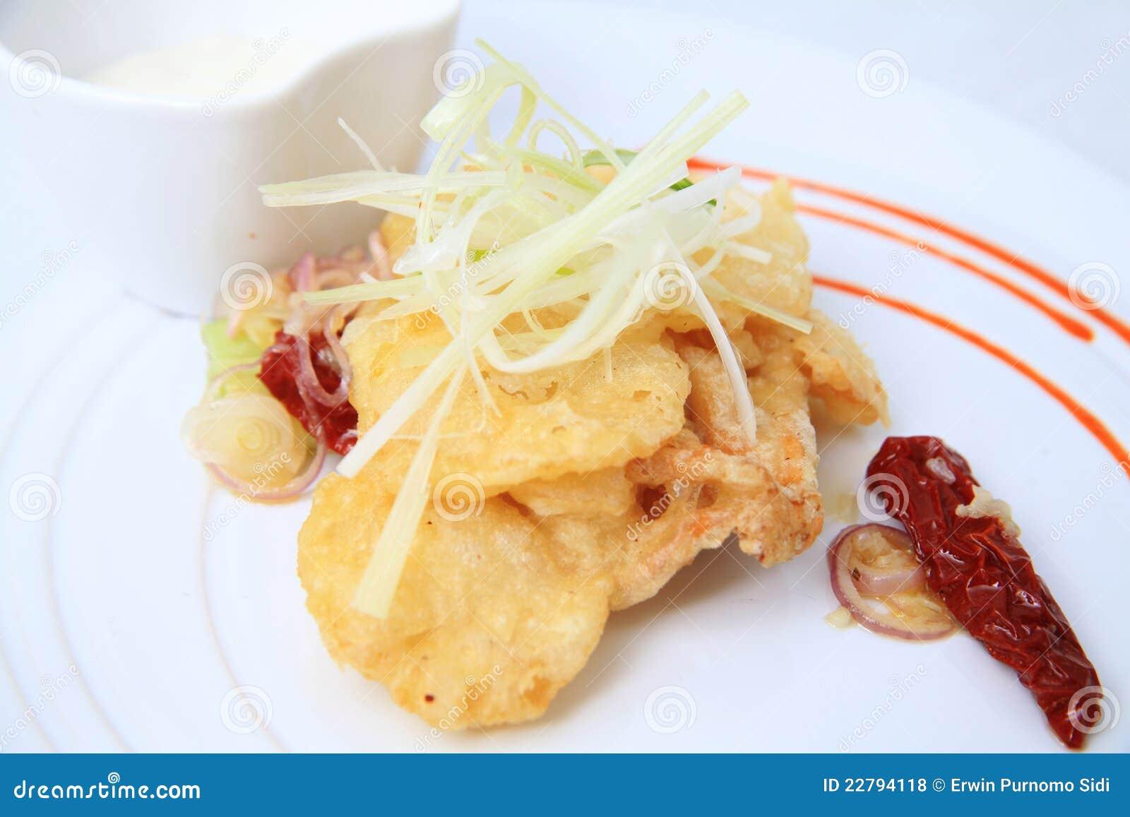 Τρόφιμα beignettes μανιταριών στρειδιών