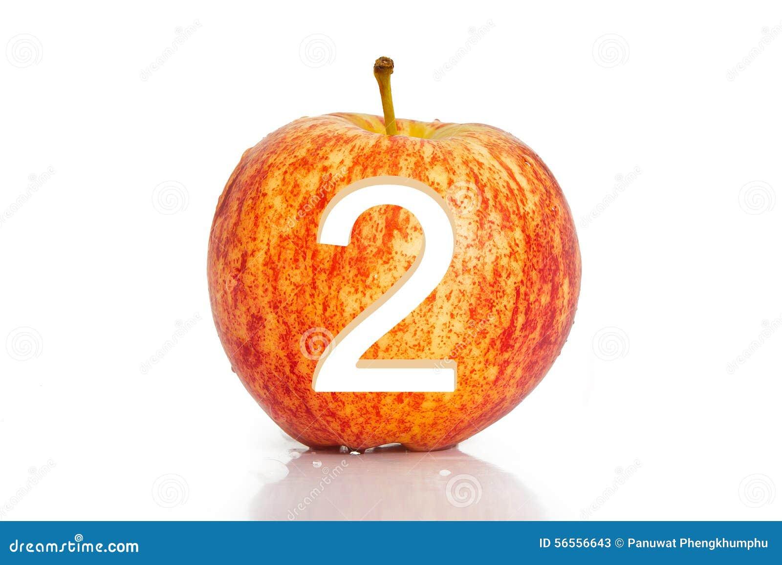 Download Τρύπα αριθμού στο μήλο που απομονώνεται στο άσπρο υπόβαθρο Στοκ Εικόνα - εικόνα από κανένας, δαγκώματα: 56556643