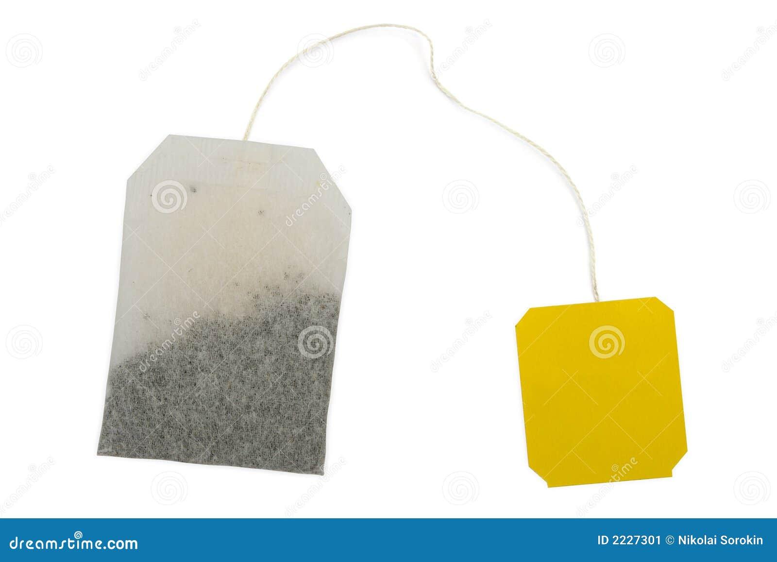 τσάι ετικετών τσαντών κίτρινο