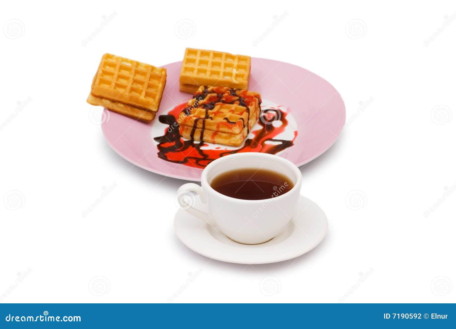 Τσάι και βελγικές βάφλες