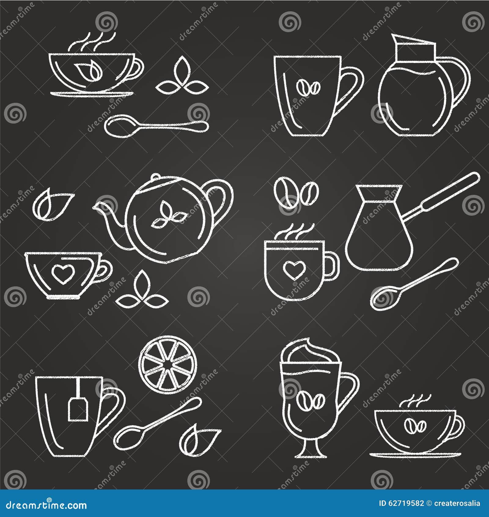 Τσάι και coffe εικονίδια