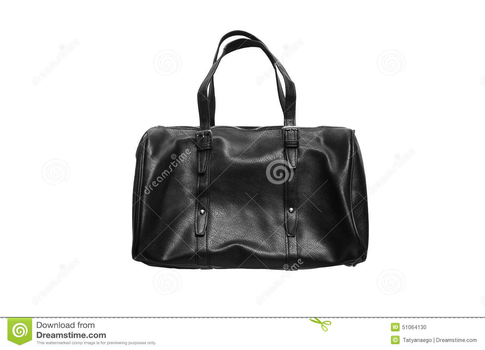 1a19104088 Μαύρη τσάντα μπόουλινγκ δέρματος που απομονώνεται πέρα από το λευκό