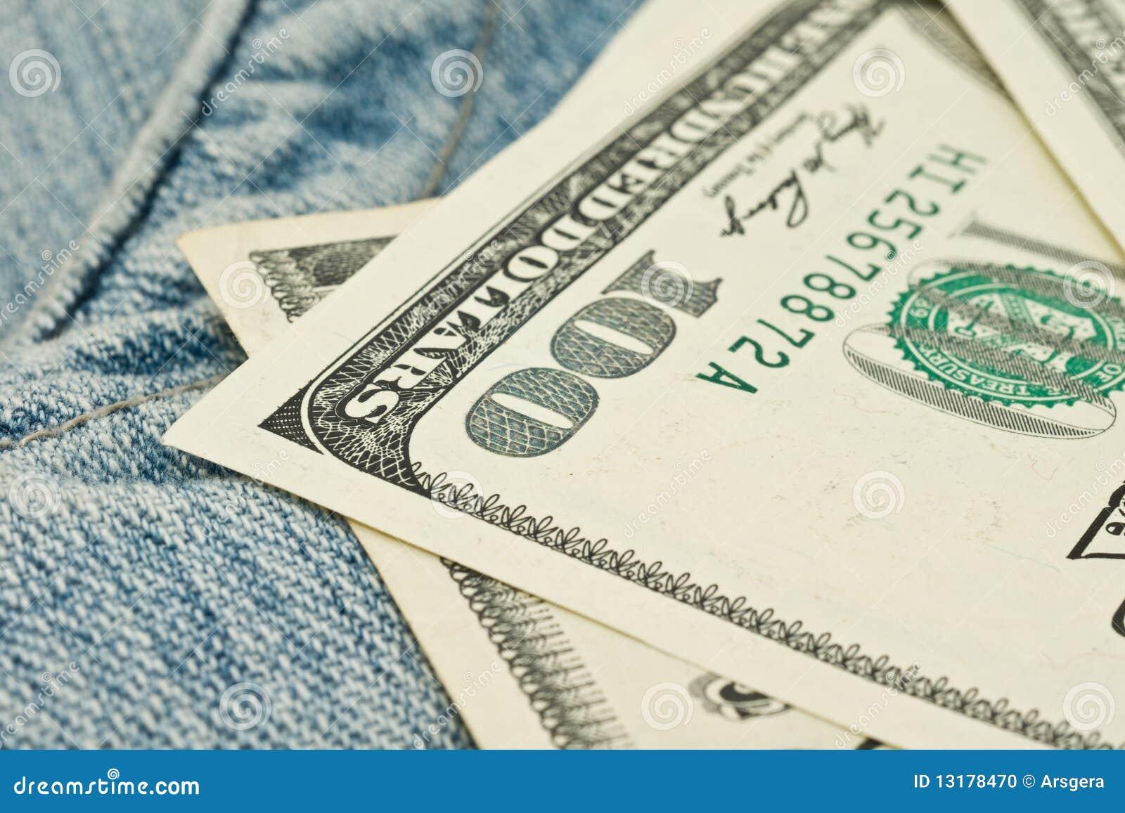 τσέπη χρημάτων 100 τζιν δολαρίω