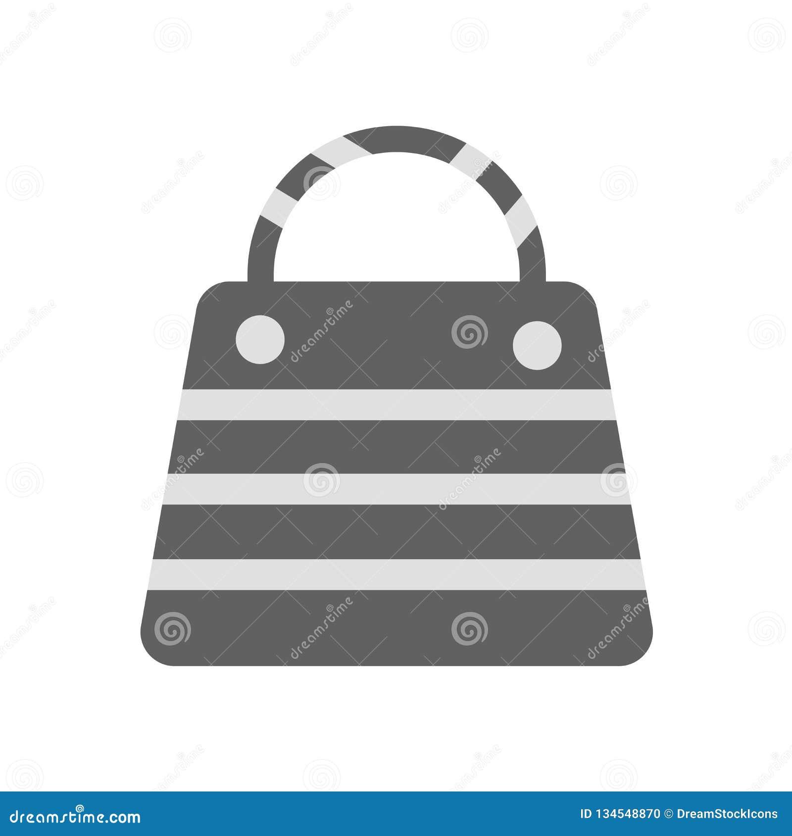Τσαντών σημάδι και σύμβολο εικονιδίων διανυσματικό που απομονώνονται στο άσπρο υπόβαθρο, έννοια λογότυπων τσαντών