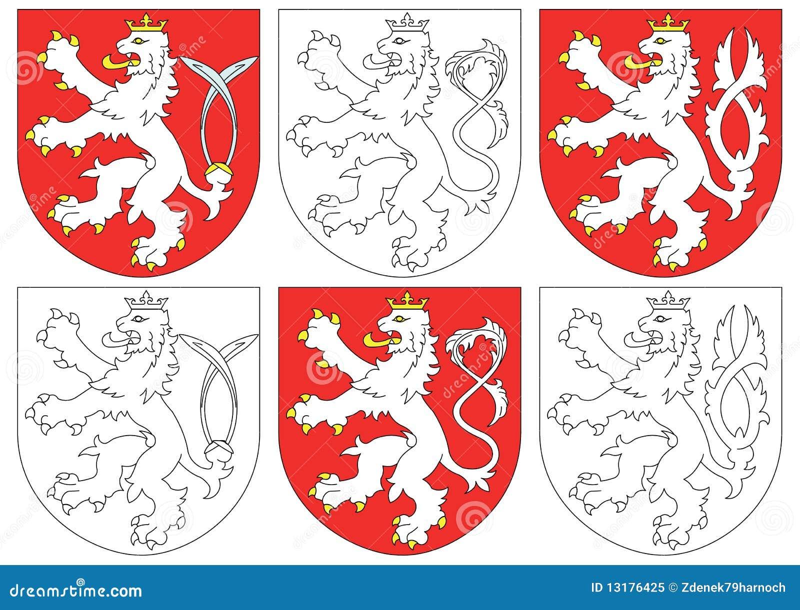 τσεχικό λιοντάρι οικοσήμ&
