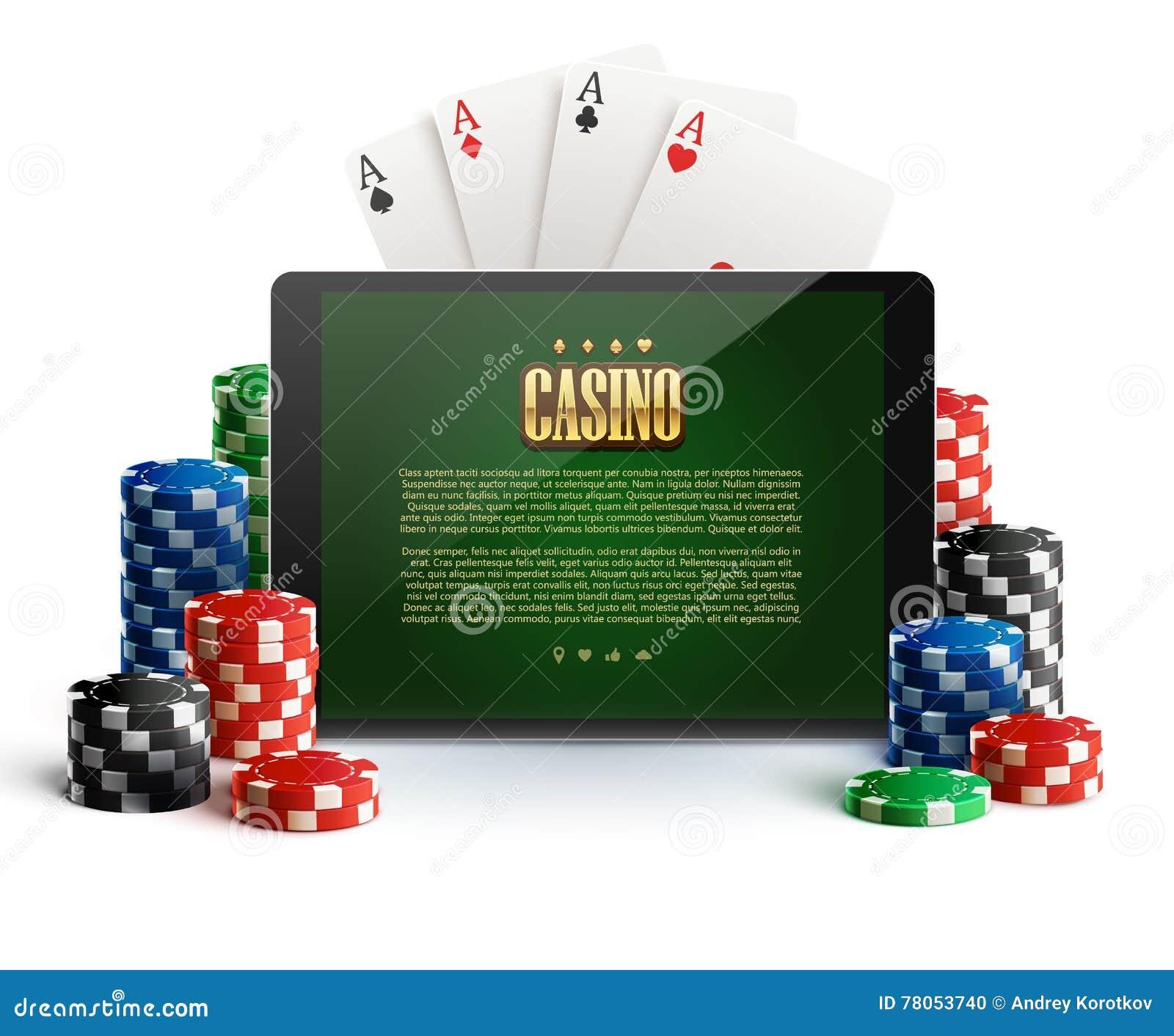 Τσιπ χαρτοπαικτικών λεσχών και κινητός στο λευκό